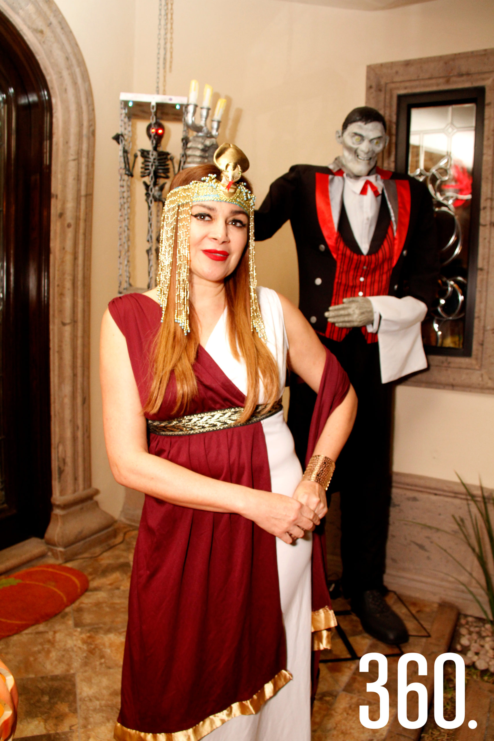 """Pita Valdés como la emperatriz """"Cleopatra""""."""