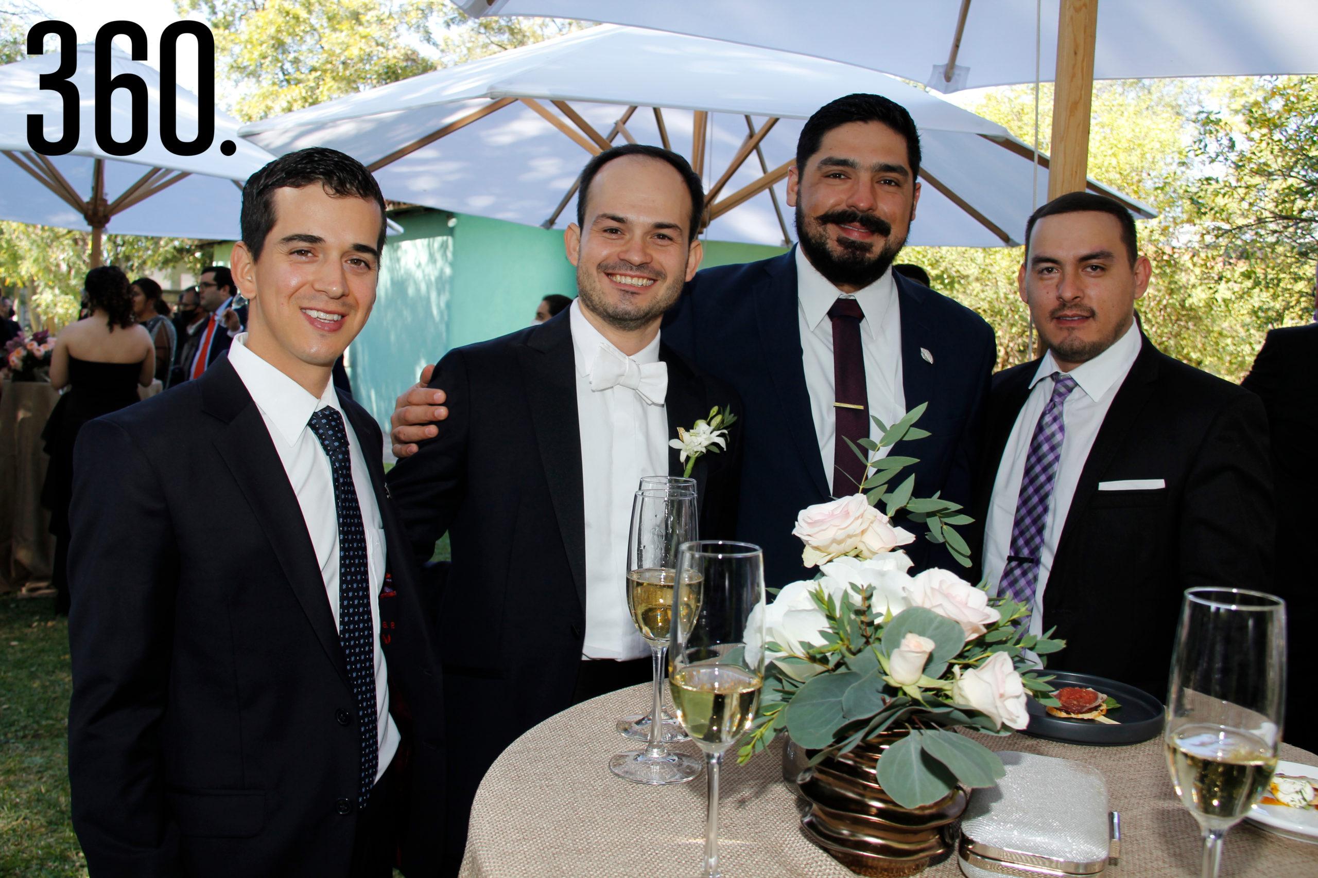 Bernardo García, Juan Bautista de la Garza, Sergio Olvera y Alberto Arrayales.