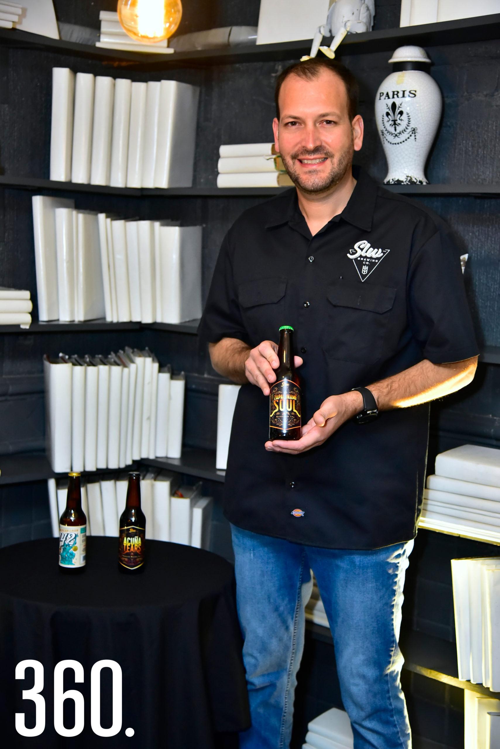 El maestro cervecero David González.