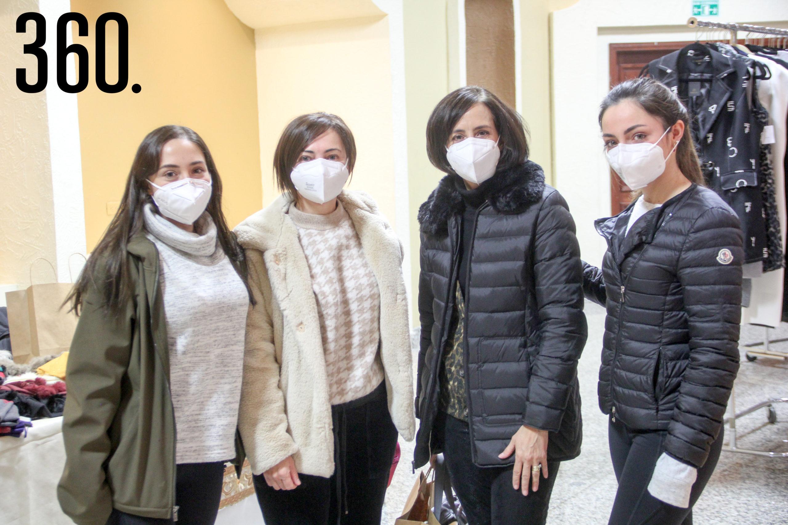 Mariana Garza, Rosita Dávila, Adriana Ramos y Daniela Garza.