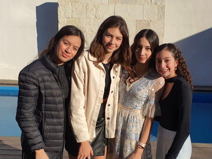 Pamela Salinas, Mariana Maldonado, Lannah Ávalos y Annete Cárdenas.
