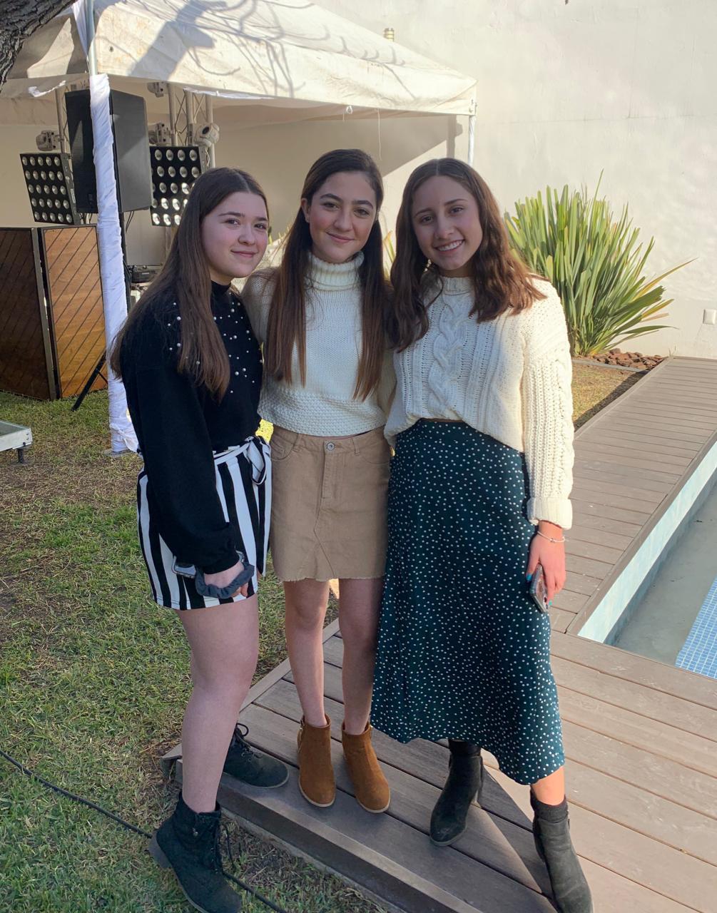 Isabelle Sierra, Daniela Sánchez y Mariángela Lozano.