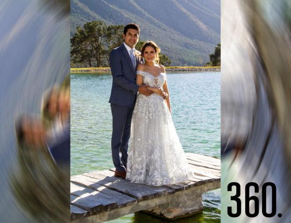 Alexis Martínez Rodríguez y Fernanda Mendizabal Delgadillo unieron sus vidas en una ceremonia civil en Tierra Serena.