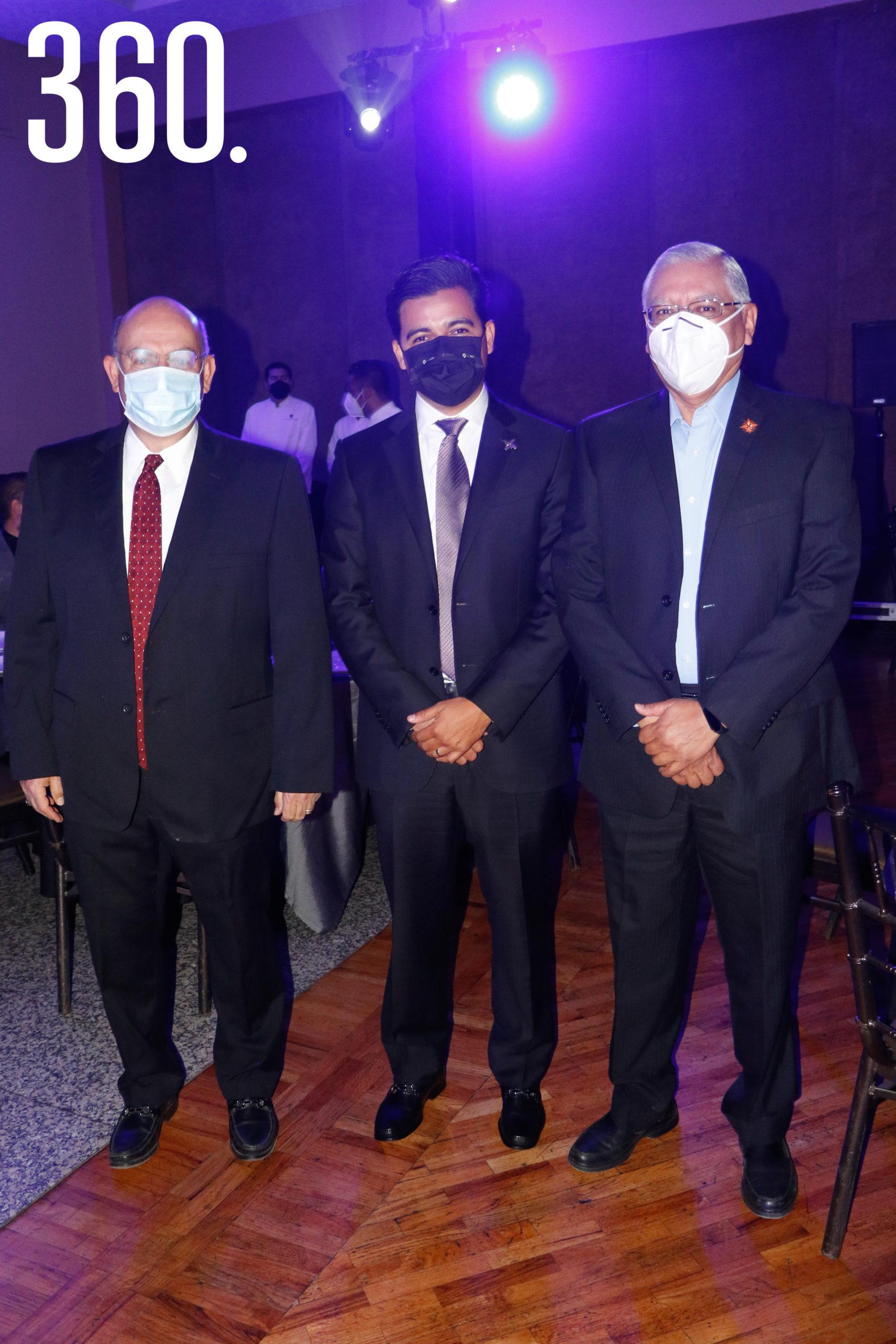 Raúl Garza, Eder López y Elías Martínez.