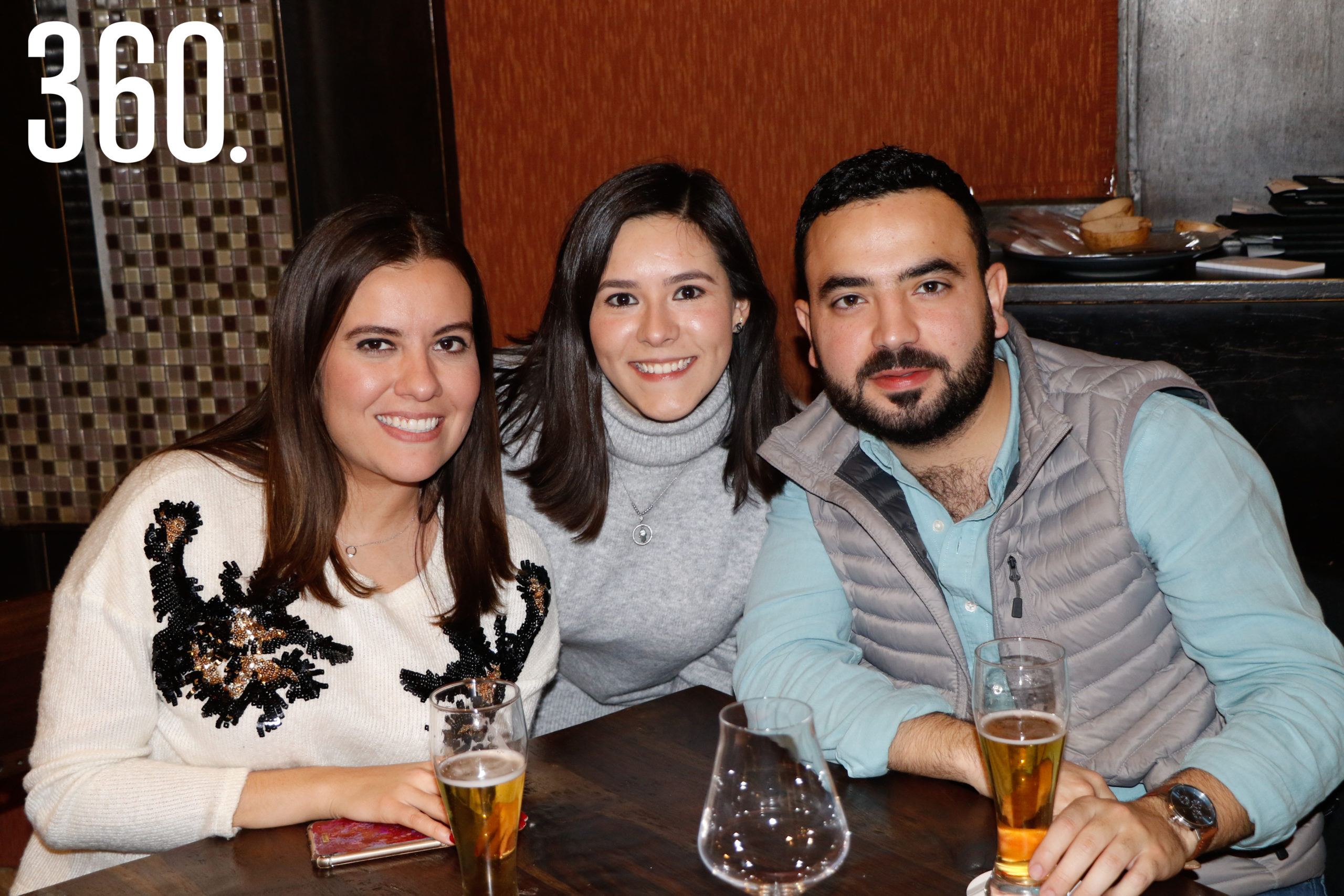 Laura Jiménez, Lorena Martínez y Marco Quiroga.