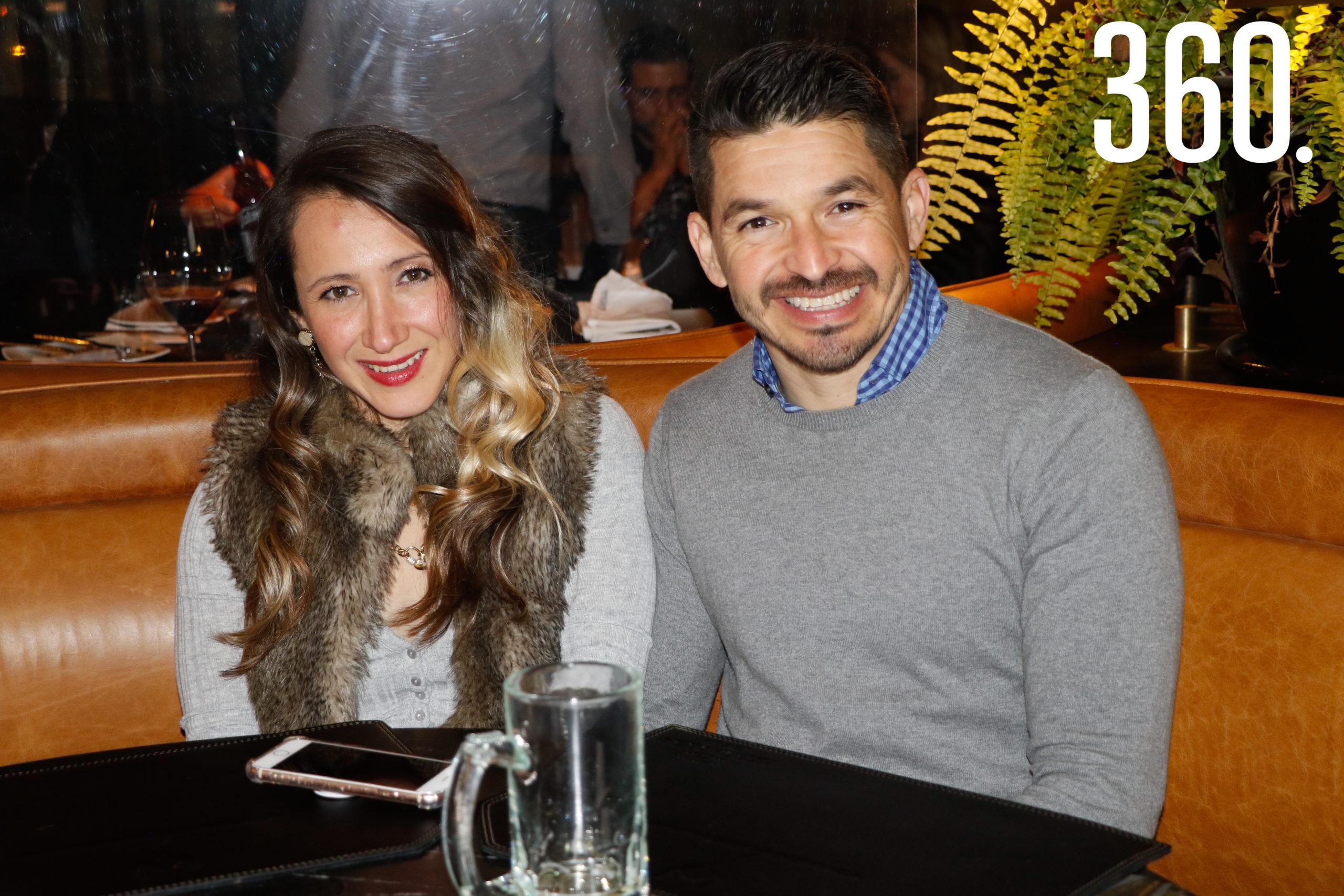 Angélica Barraza y Jorge Sánchez.