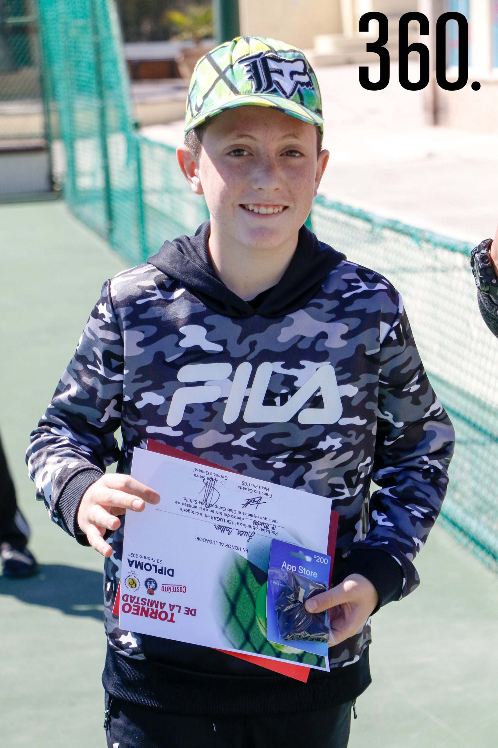 Luca Collier, campeón de categoría 14 mixtos.