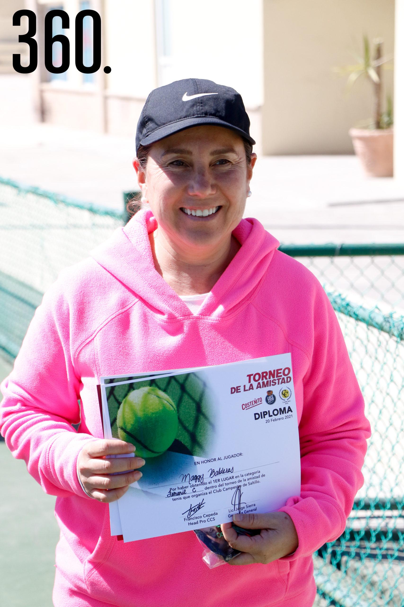 Maggy Balderas, campeona de categoría femenil C.