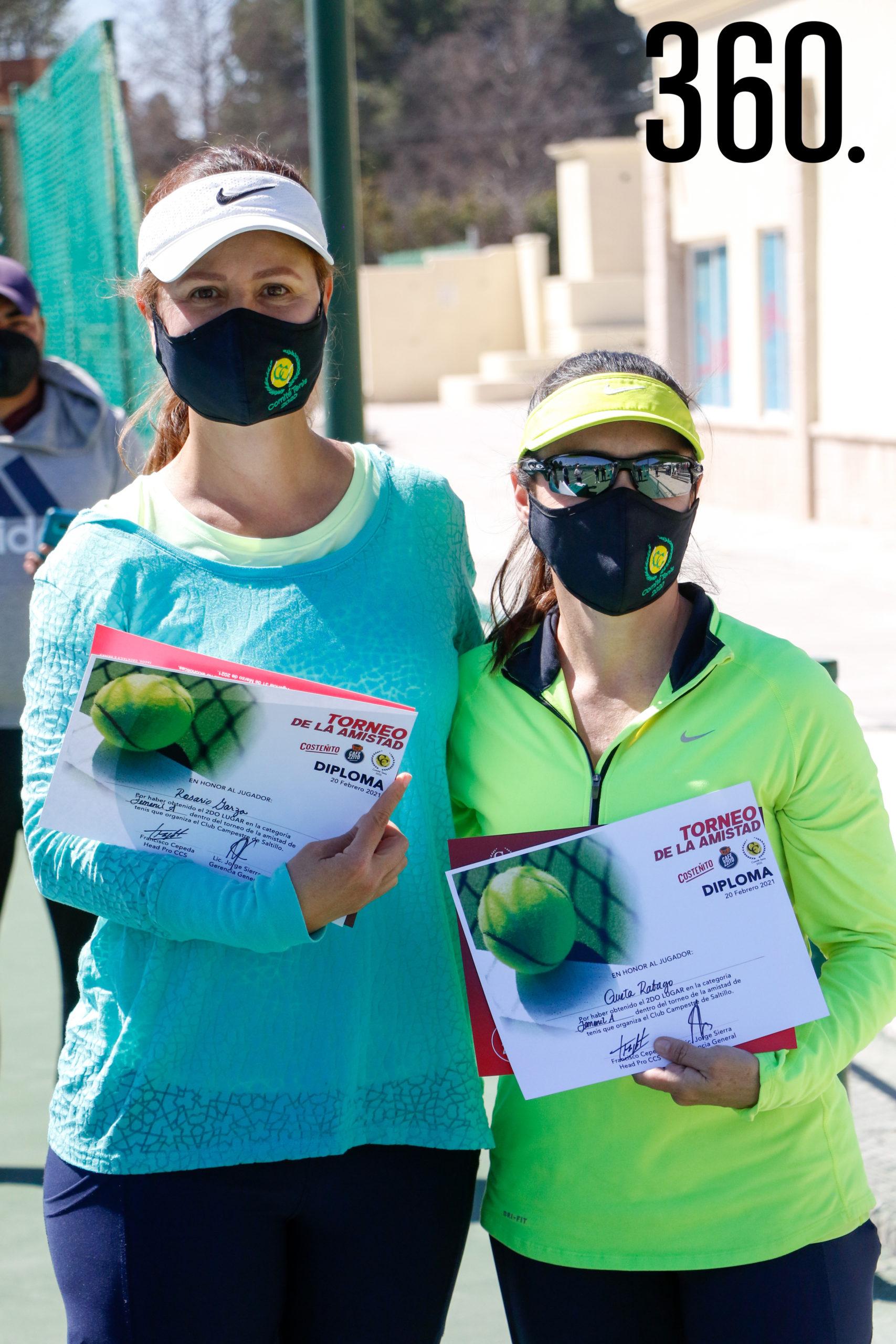 Rosario Garza y Queta Rábago, finalistas de categoría femenil A.