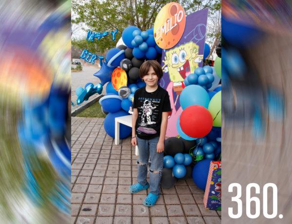 """Emilio Eichelmann Arizpe celebró su onceavo aniversario con una cósmica caravana titulada """"Birthday Party Parede"""", en su residencia familiar."""