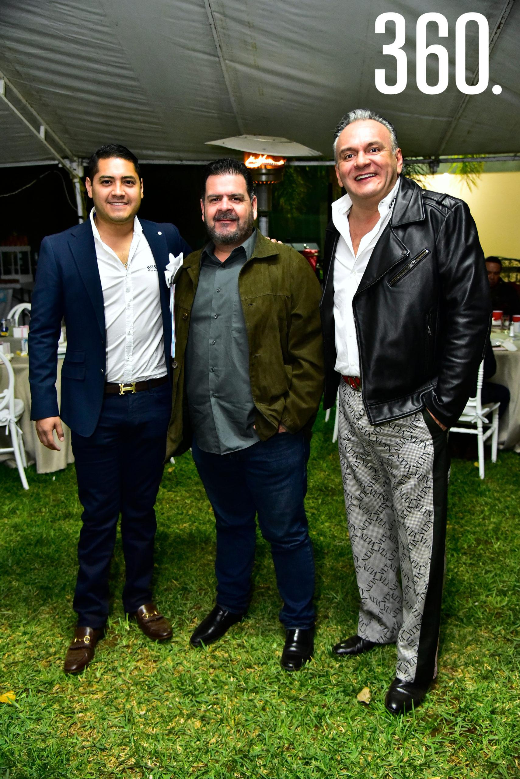Jesús Alejandro Briseño, Armando Ortiz y Jorge Cortez.