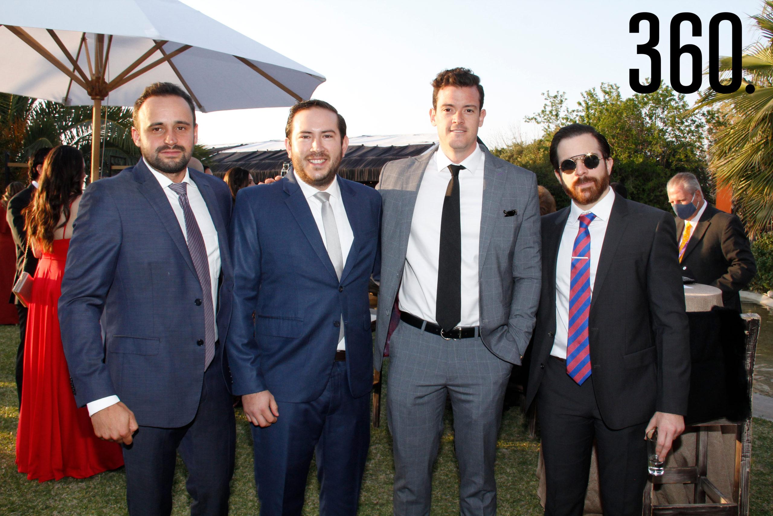 José Rincón Gallardo, Javier Garza, Juan Antonio García Vives y Benjamín Ortega.