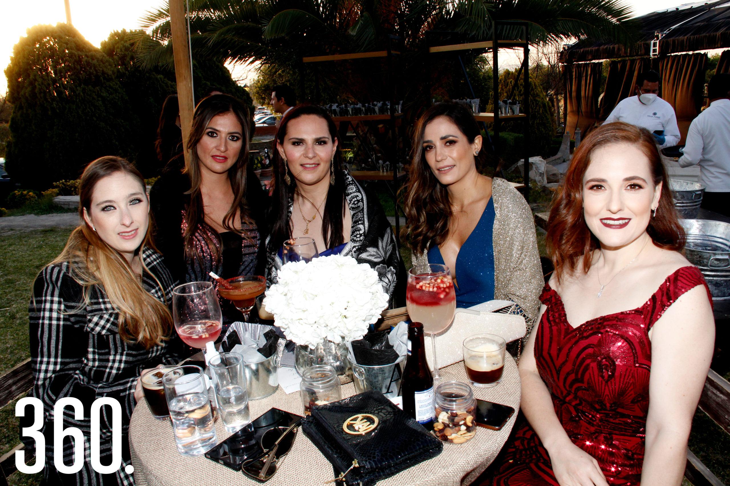 Anabel Guajardo, Erika Hernández, Tere Martínez, Laura y Paulina de la Mora.