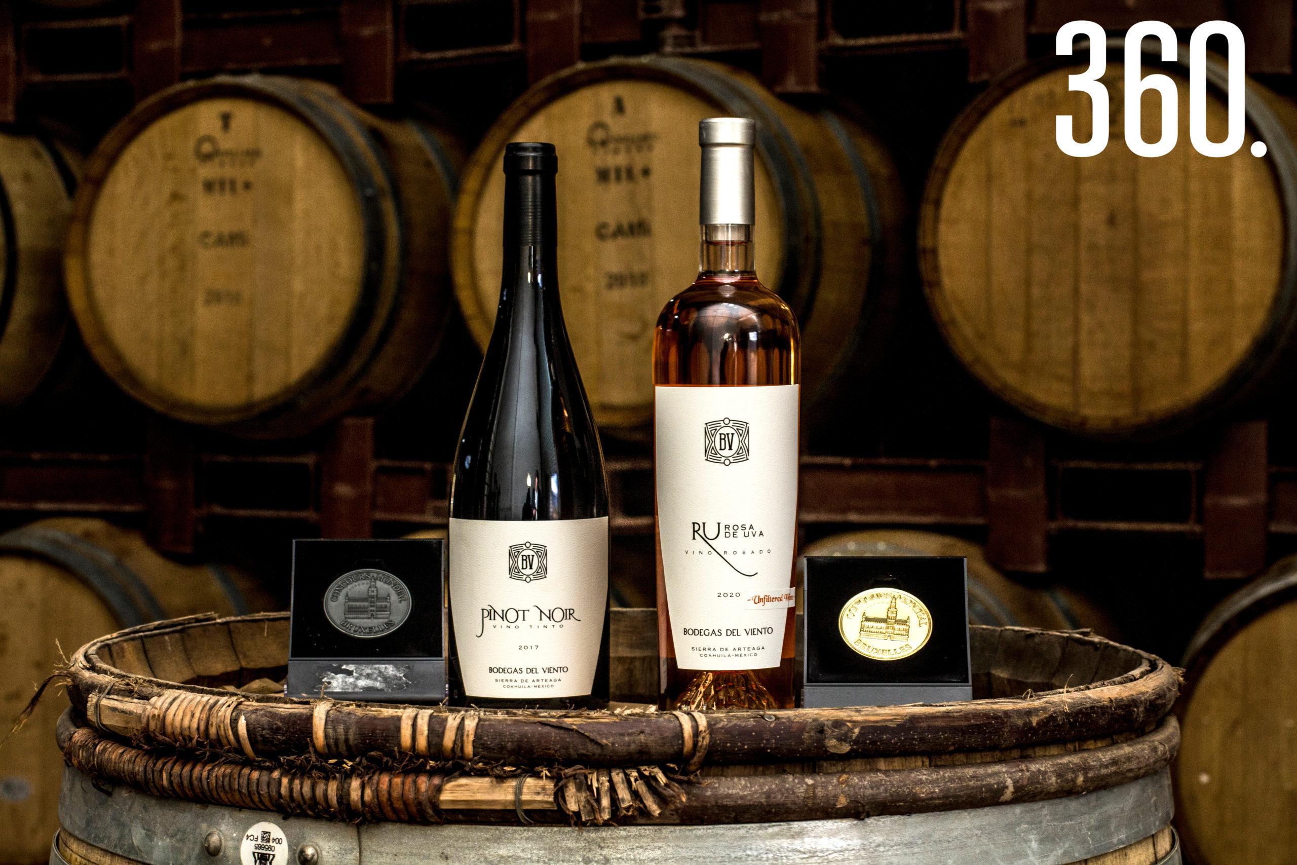 Las botellas Pinot Noir y Ru Rosa de Uva recibieron una plata y un gran oro, respectivamente.