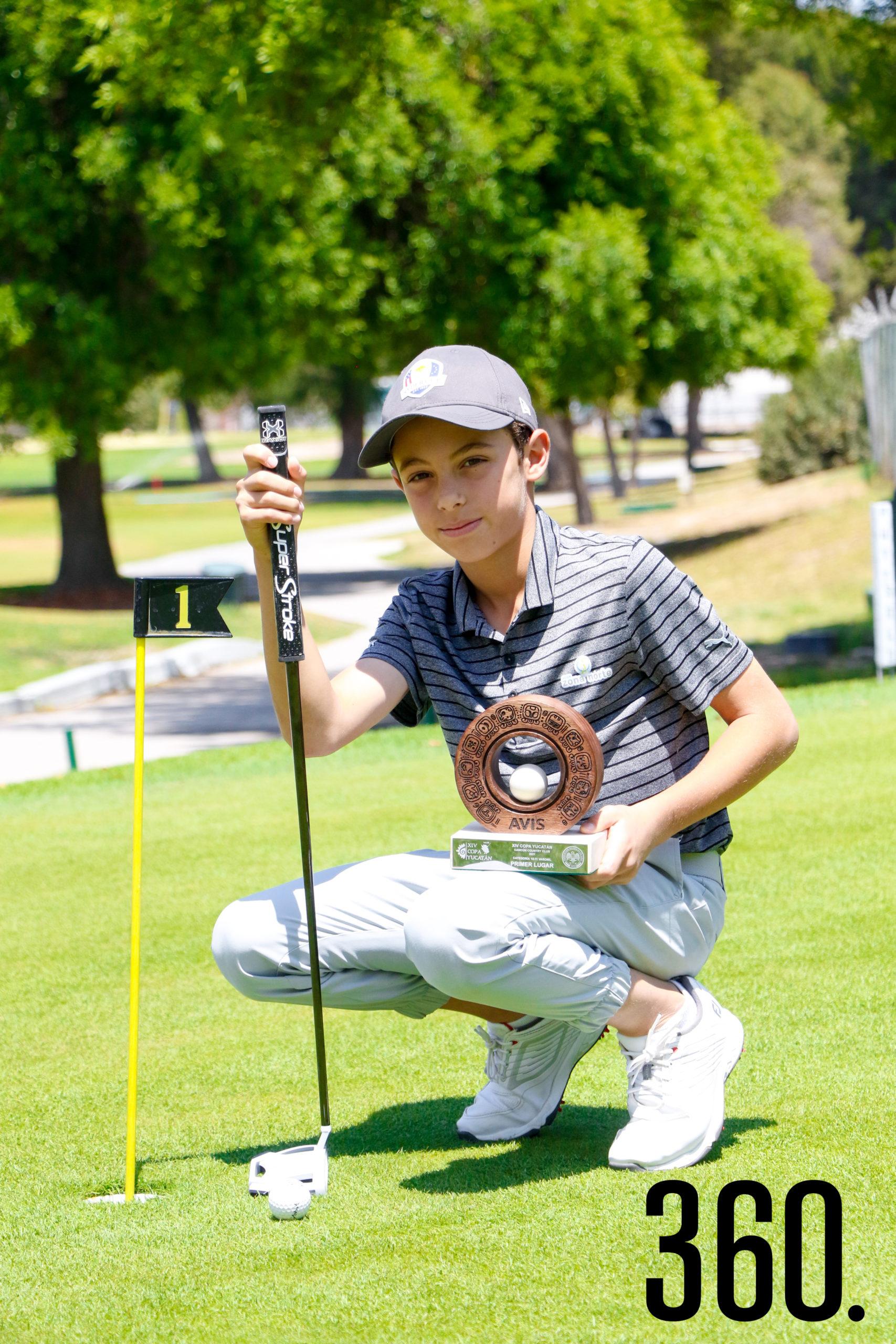 José Carlos ganó el primer lugar de la XIV Copa Yucatán en la categoría 10-11 juvenil.