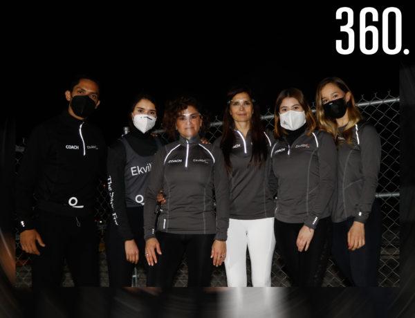 Eduardo Siller, María del Bosque, Zaida Garza, María Pía Fanti, Judith Montaño y Rebeca Guerra.