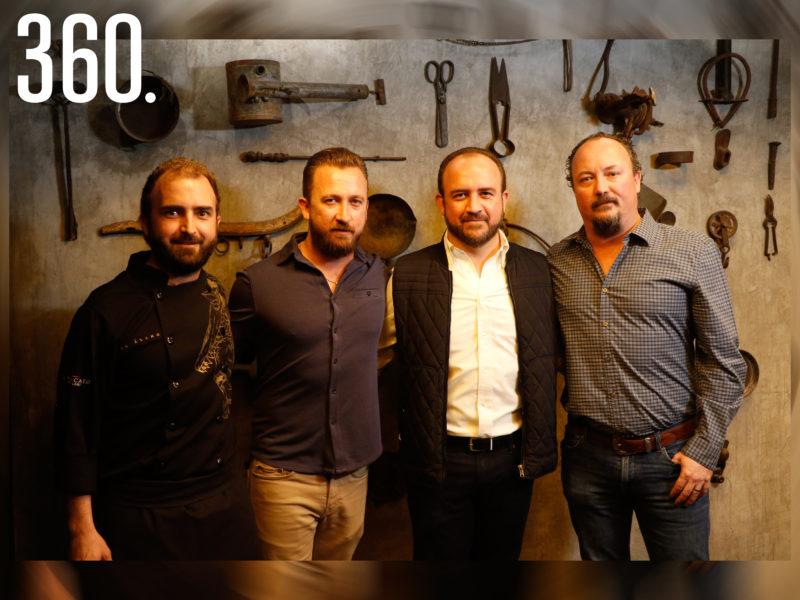 Pedro, Fabio, Blas y Lito Gentiloni, empresarios frente al proyecto gastronómico Il Mercato.