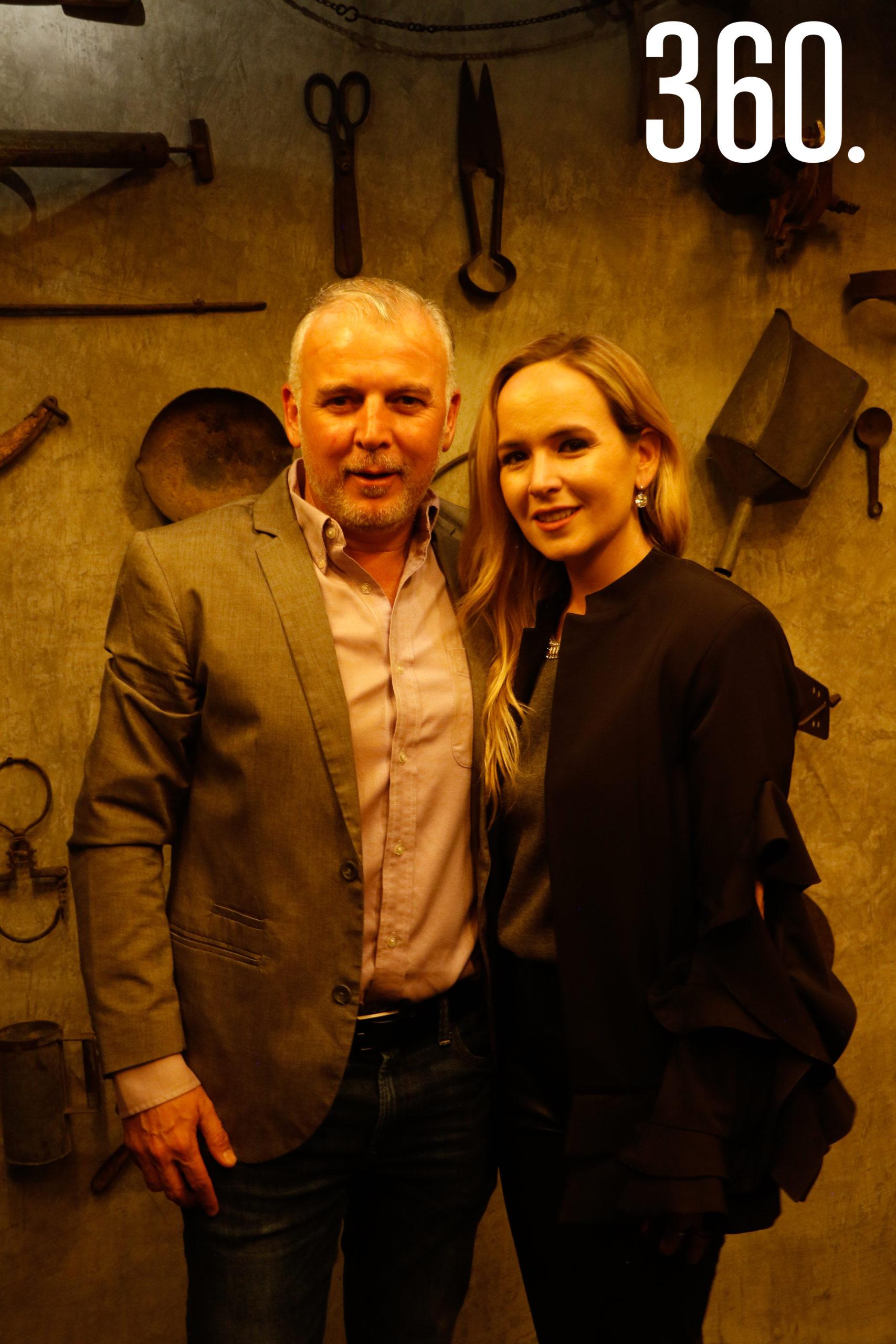 Jorge del Bosque y Lily Cepeda.