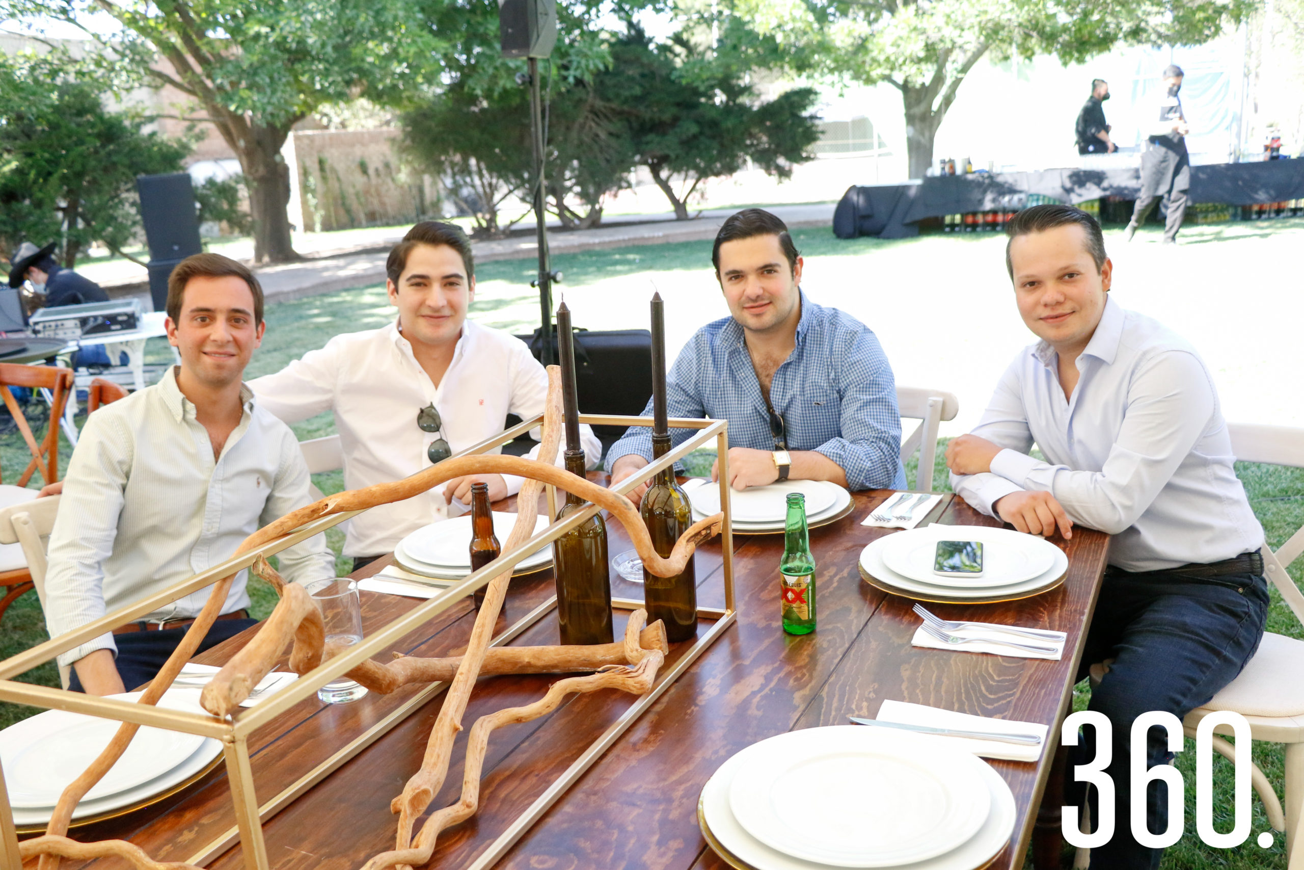 Juan Carlos Villarreal, Daniel Dávila , Gerardo César y Mario de las Fuentes.