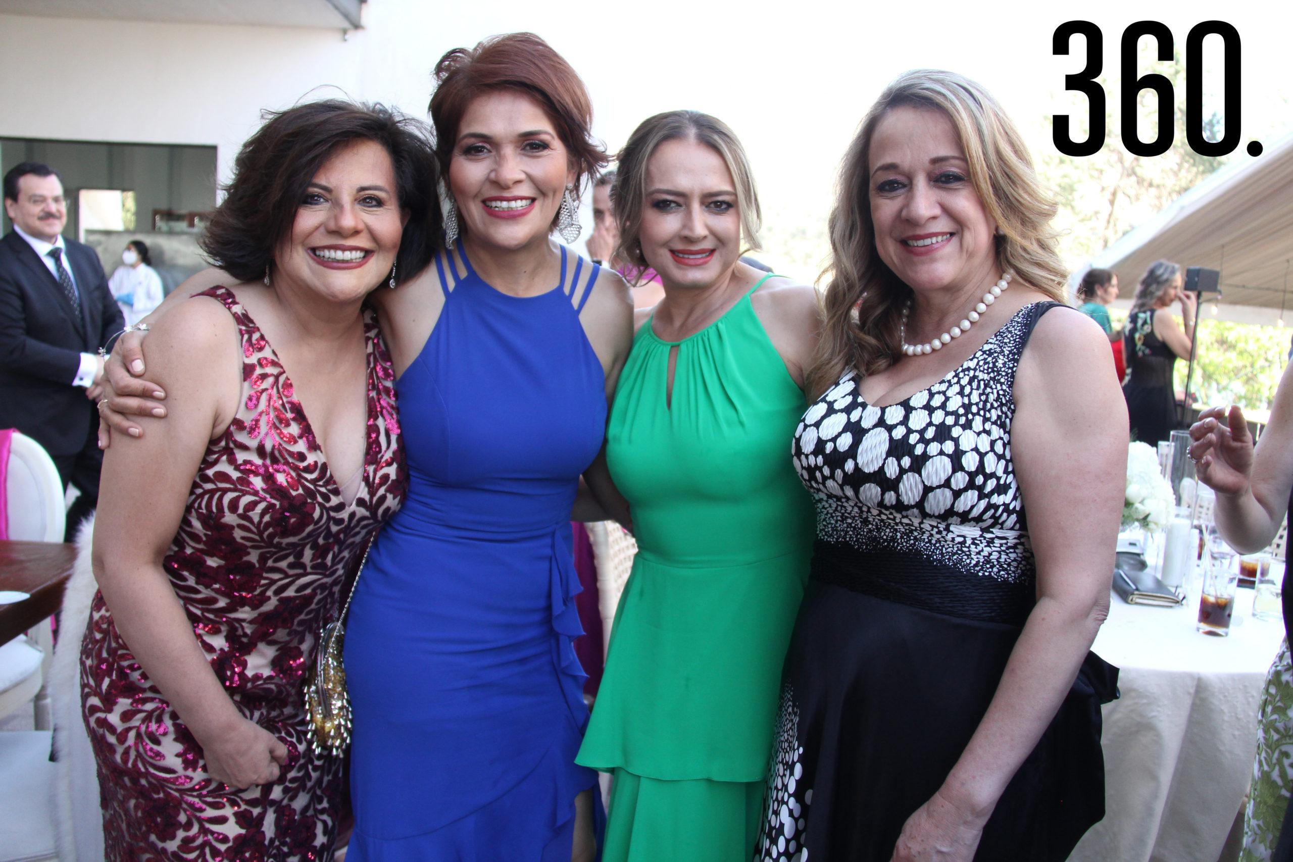 Olga Durón, Ileana Ovalle, Natasha de Lara e Inés Garza Orta.