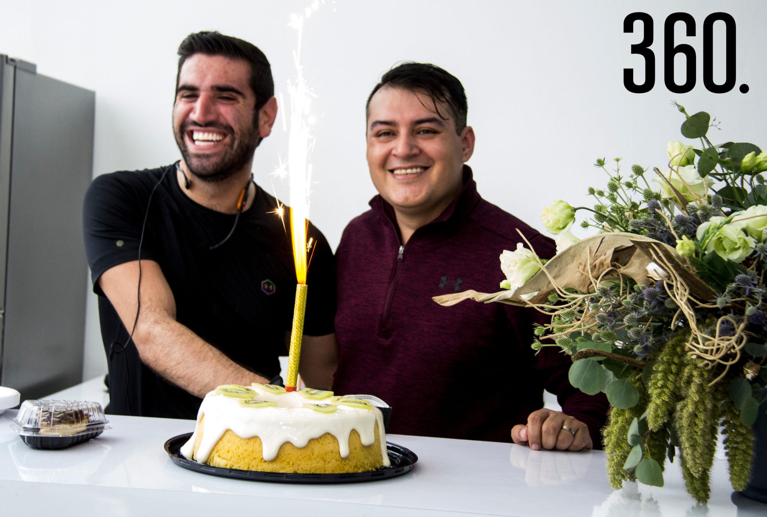 El coach Bernardo González y Jorge Cordero celebraron su cumpleaños en Cykel.