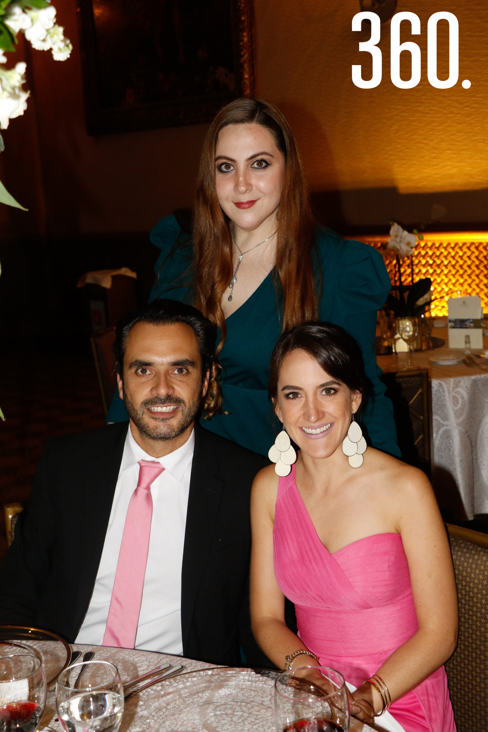 Bárbara Pompa, Roberto Solís y María José Montes.