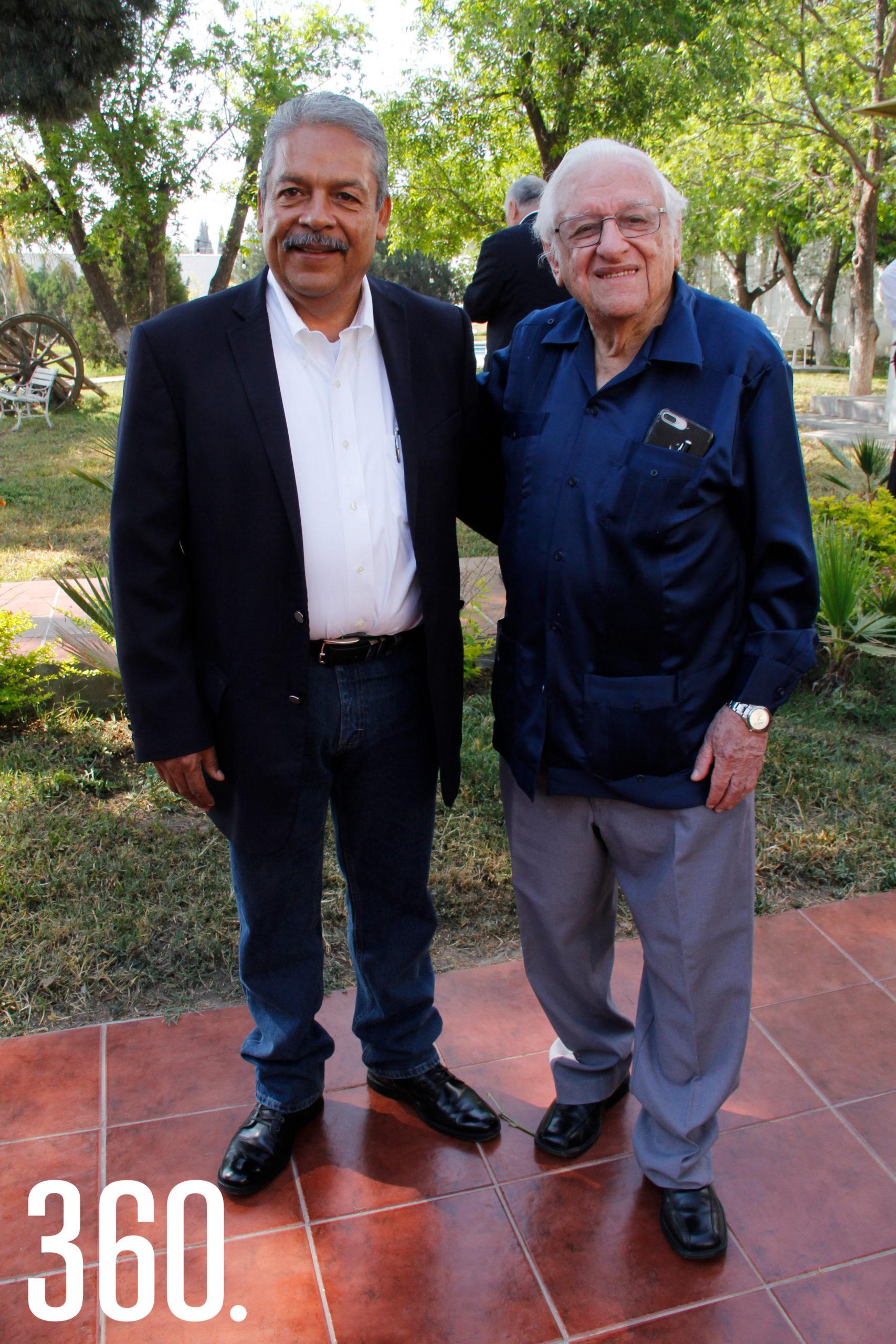 Eliseo Mendoza y Armando Fuentes Aguirre.