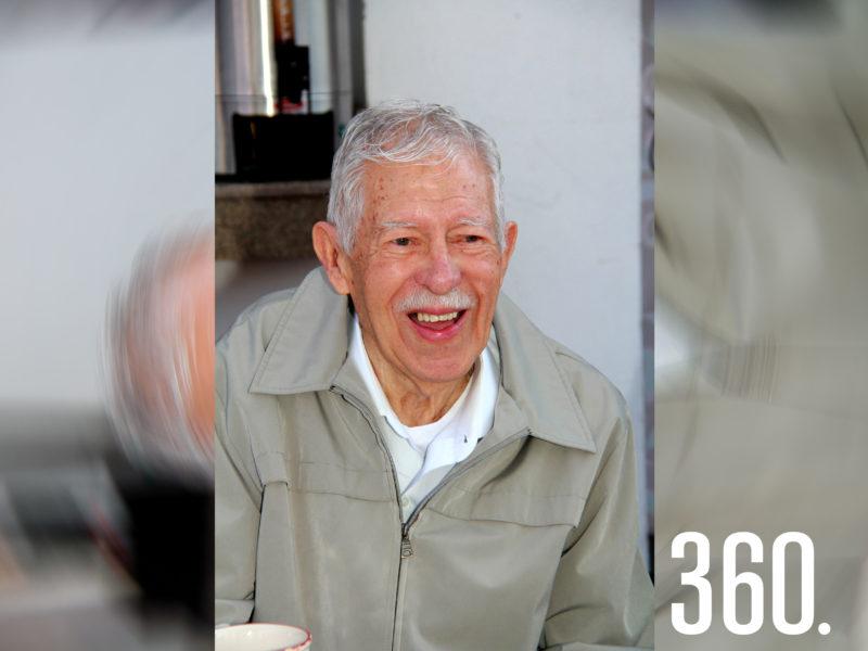 Eliseo Mendoza Berrueto celebró sus 90 años el martes 13 de abril.