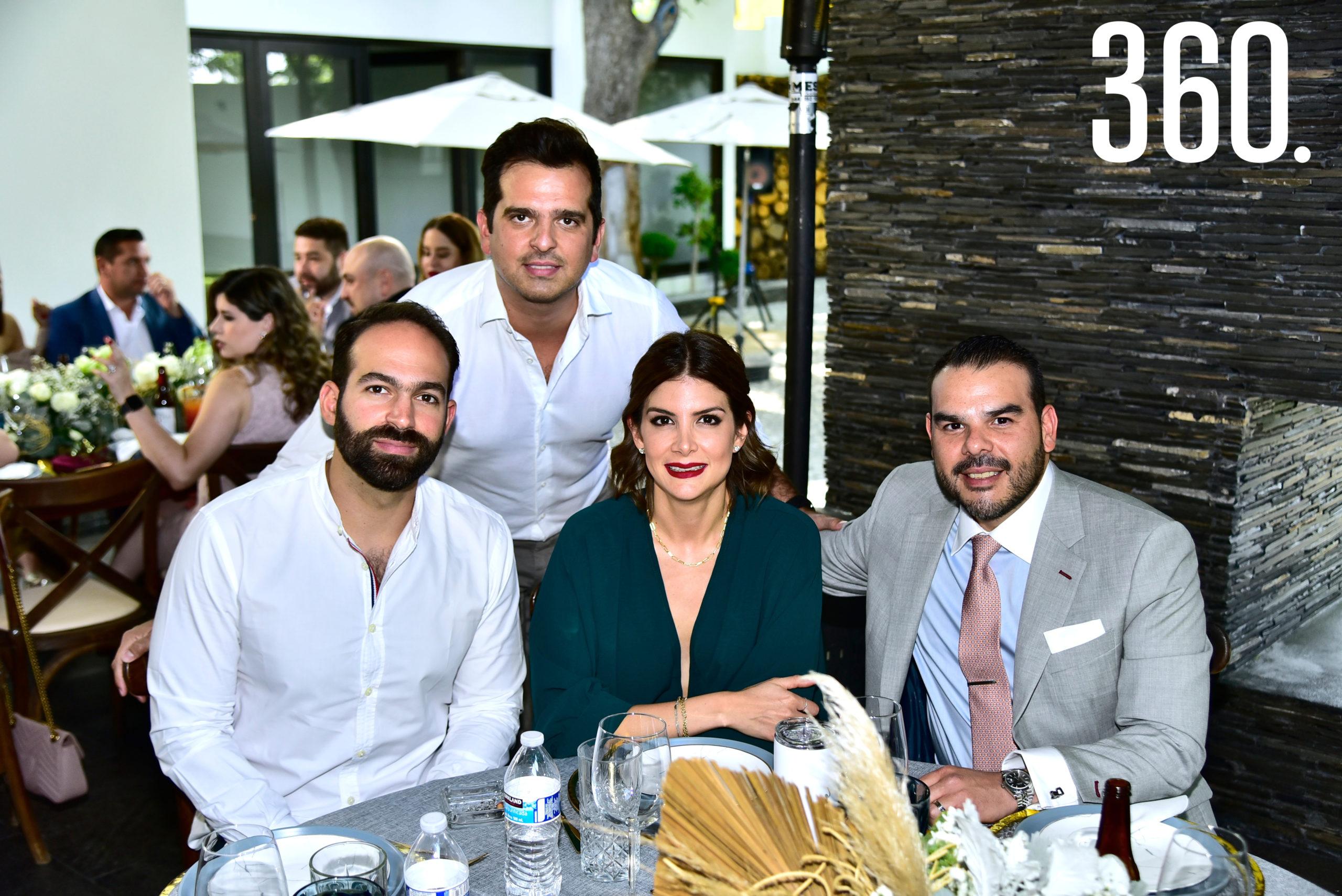 Aldo Margain, Manolo García, Jamir Ramírez y Adriana Rodríguez.