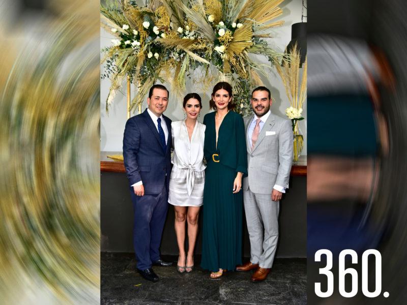 Eduardo López, Sarah Rodríguez, Jamir Ramírez y Adriana Rodríguez