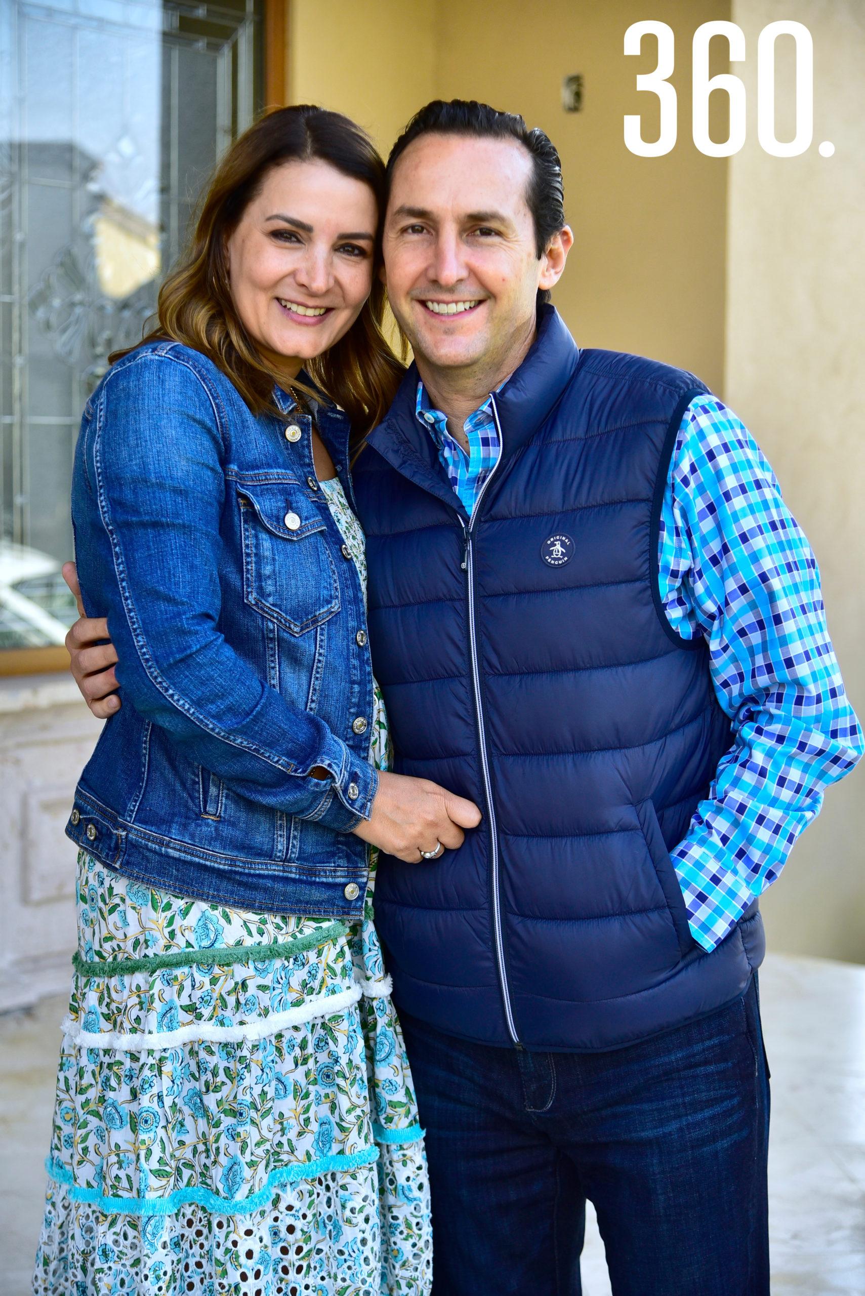 Amadelia de los Santos con su esposo Hernán Galindo.