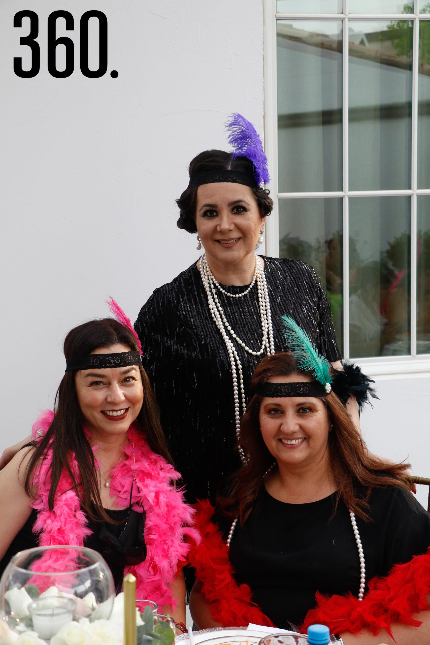 Rosalba Espino, Claudia Muñoz y Diana Musa.