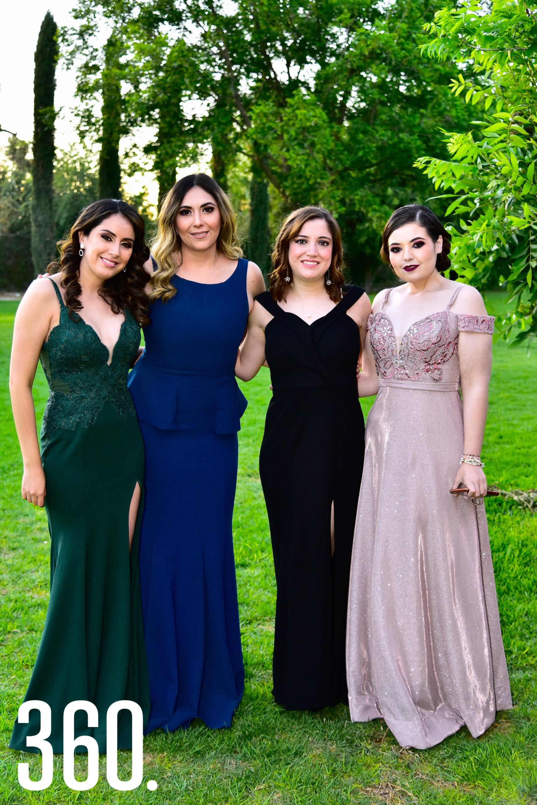 Génesis Carrillo, Edna Amavisca, Francia Fuentes y Elisa Salinas.