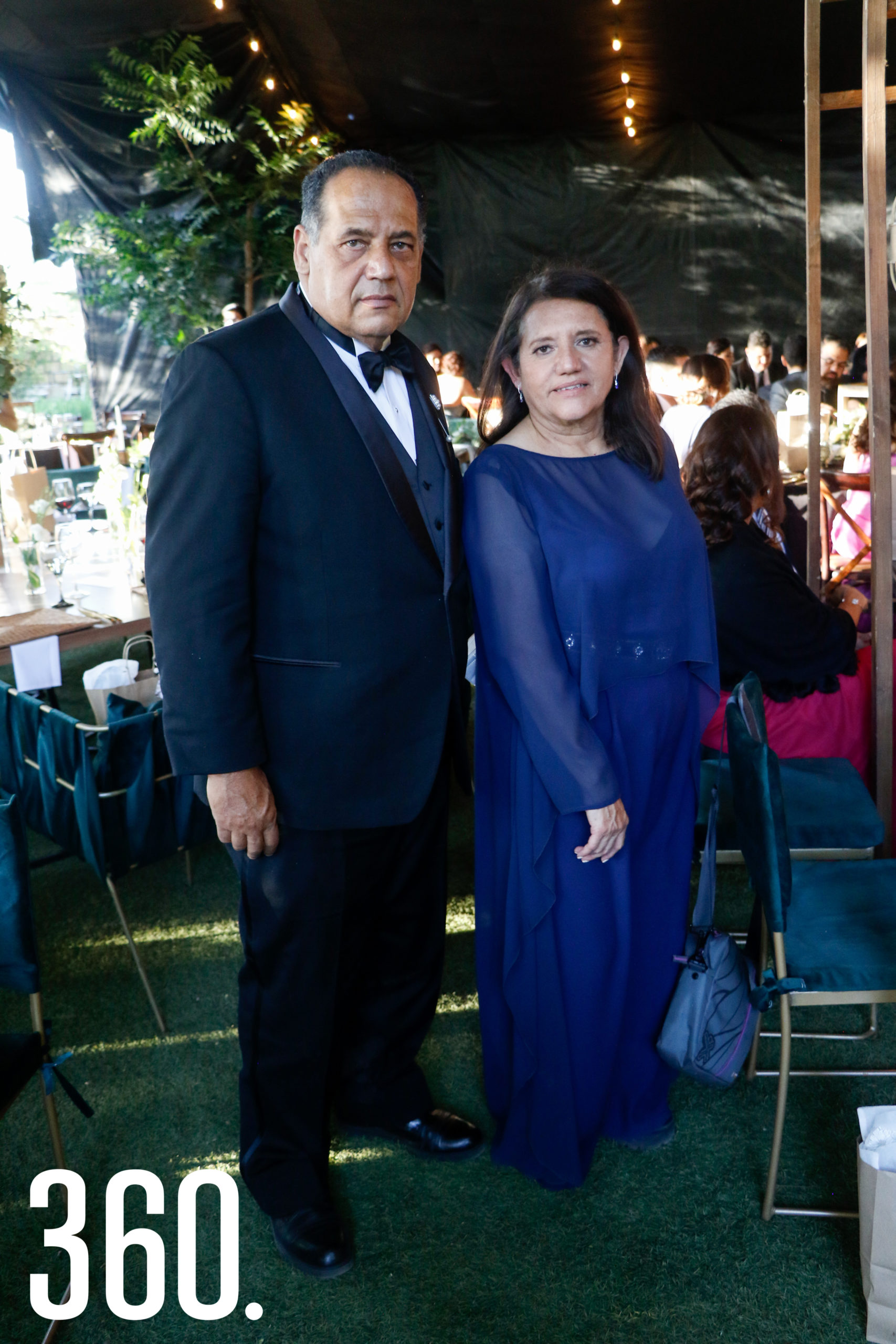 José Guadalupe Delgado y Ana Salgado, papás de la novia.