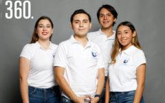 Monserrath Guajardo, Jordi Saucedo, David De la Colina y Karla García.