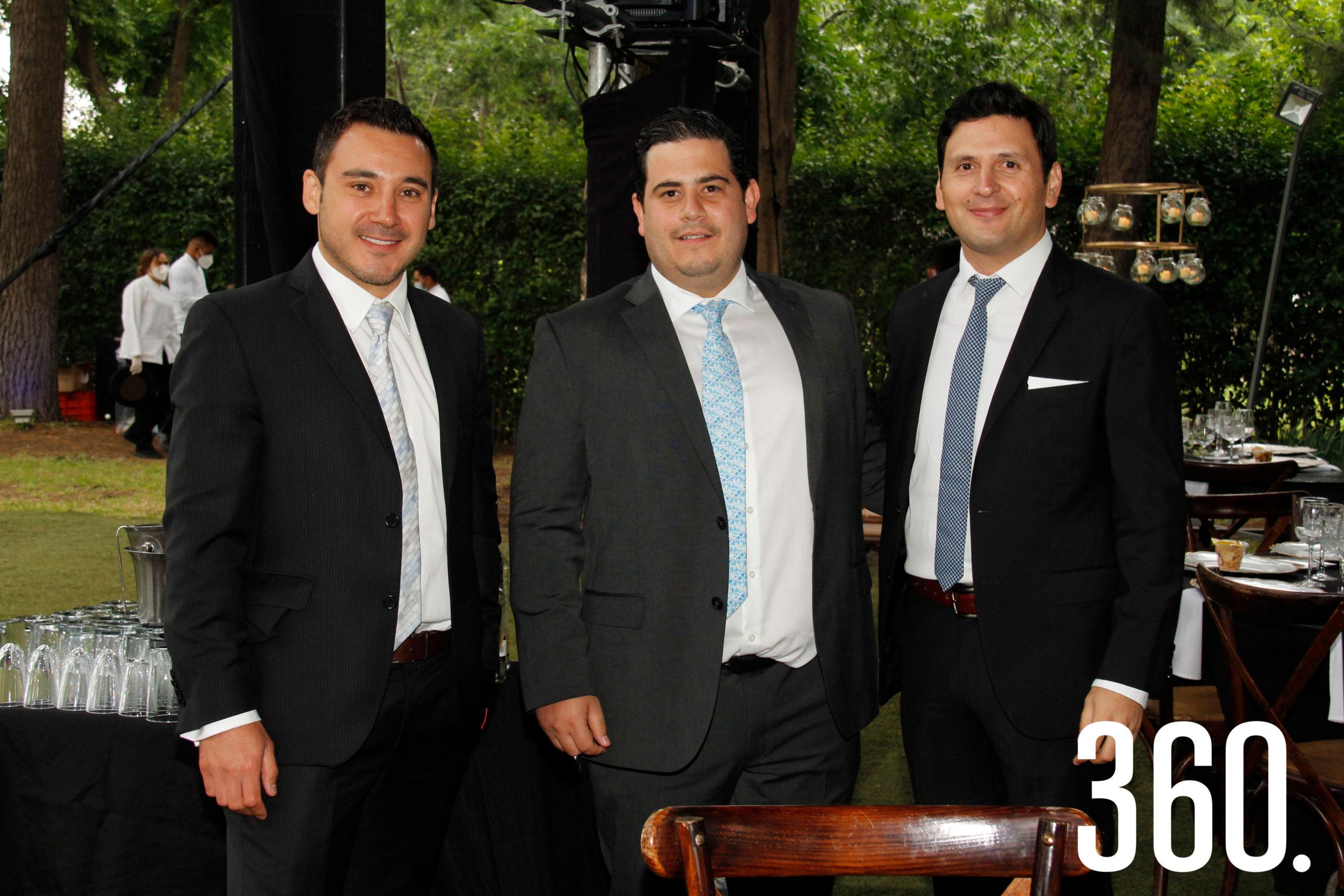 Saúl Colunga, Fernando Treviño y Roberto Almaguer.