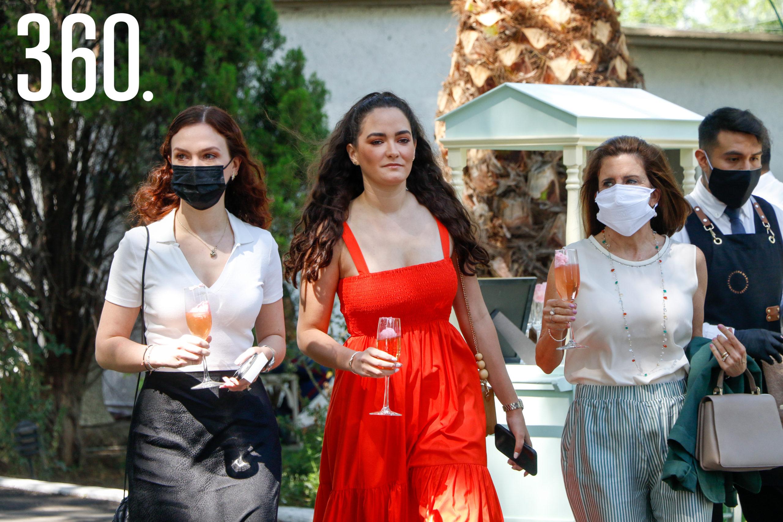 Mariana García, Ana Gaby López y Conchalupe Arizpe.
