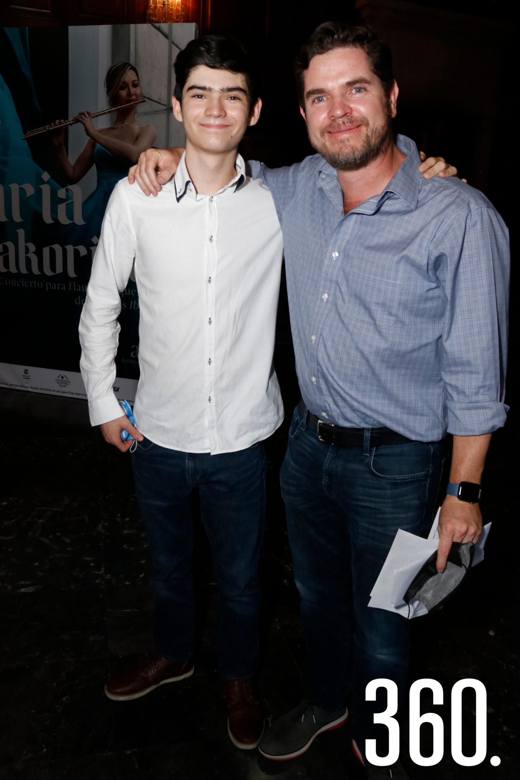 Santiago y Michael Clegg.