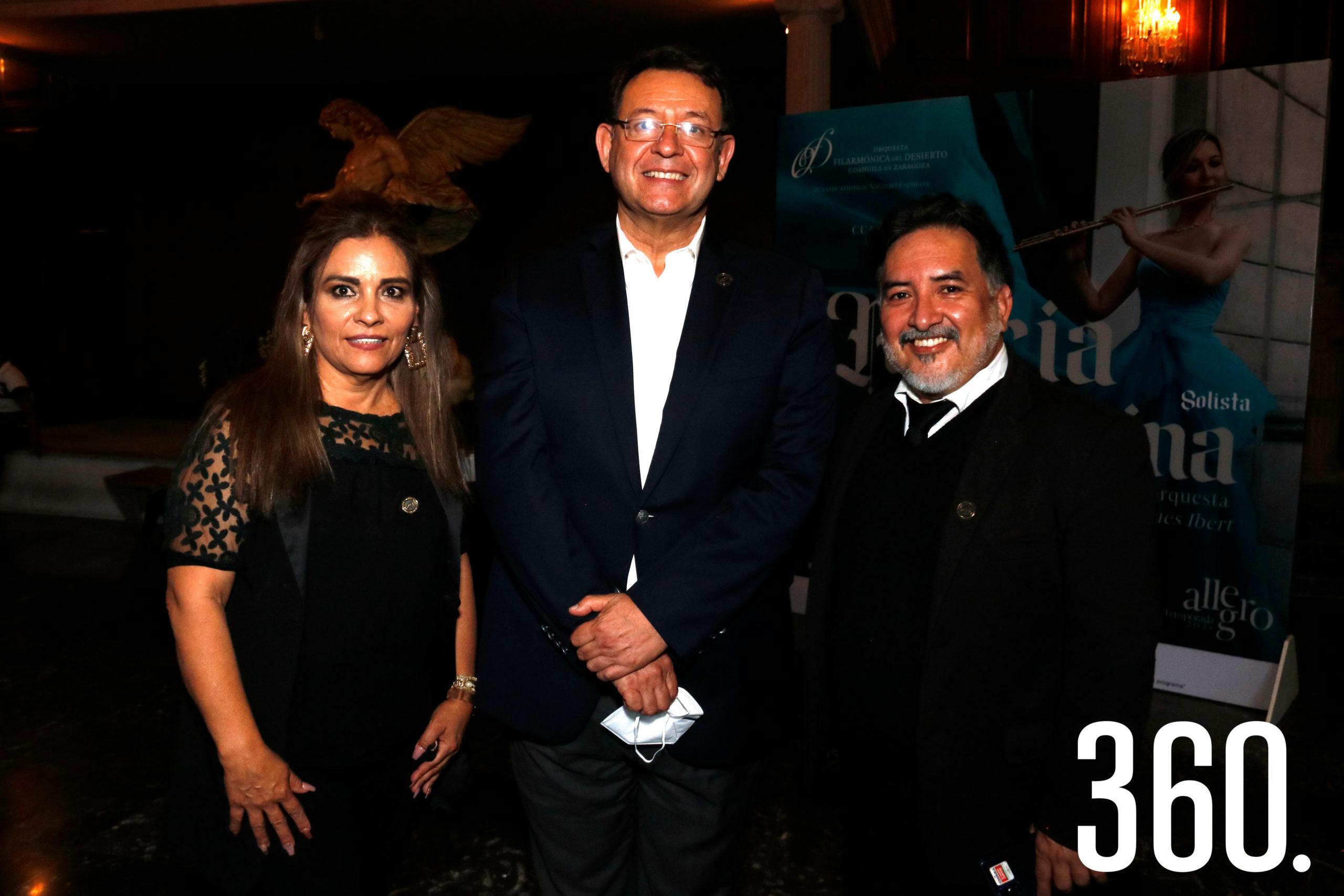Lulú Aguilar, Lauro Cortez y Prometeo Murillo.