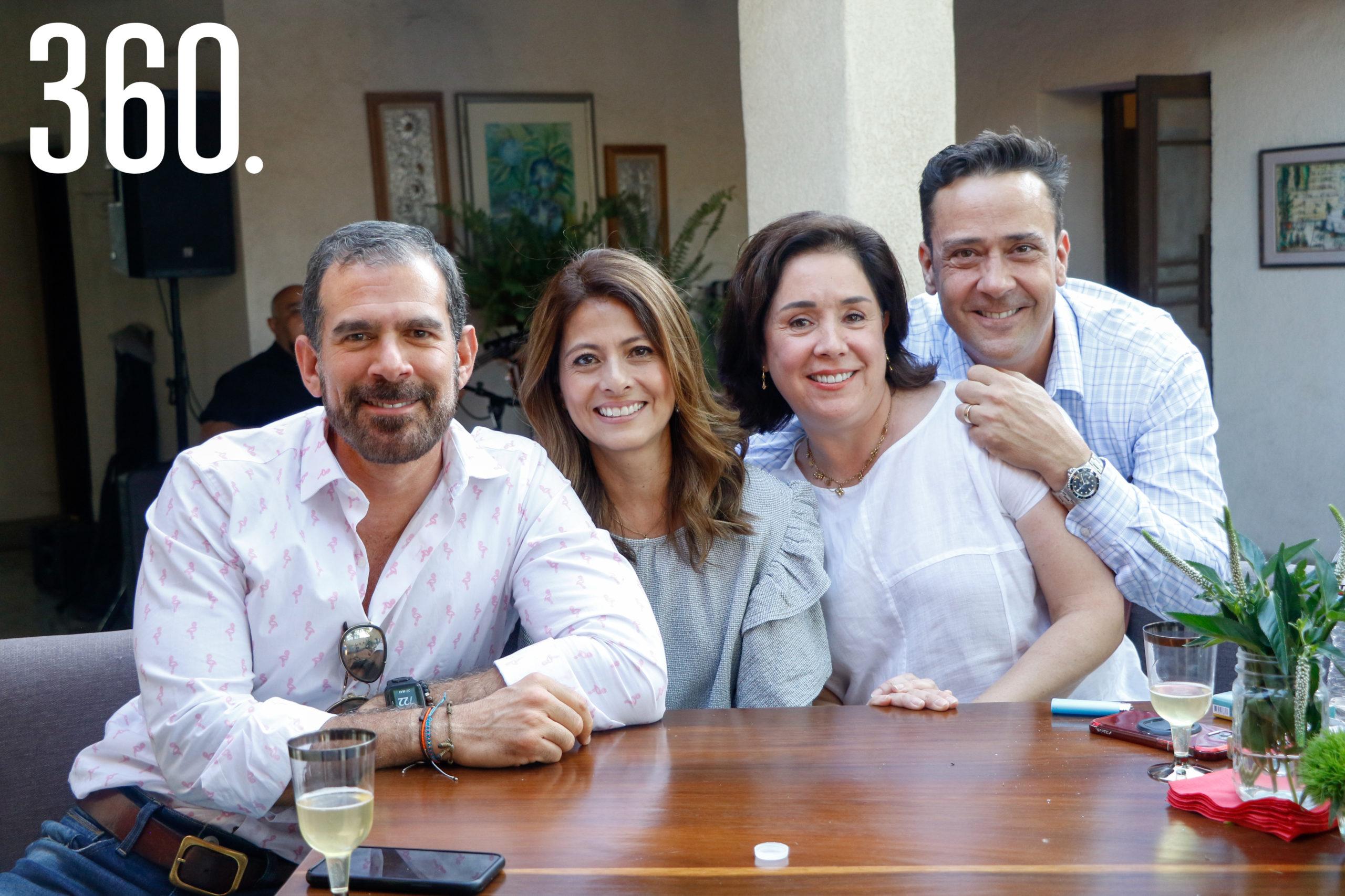 Rodrigo Basáñez, Arline Martínez, Luisa Castilla y Juan Carlos Guerra.