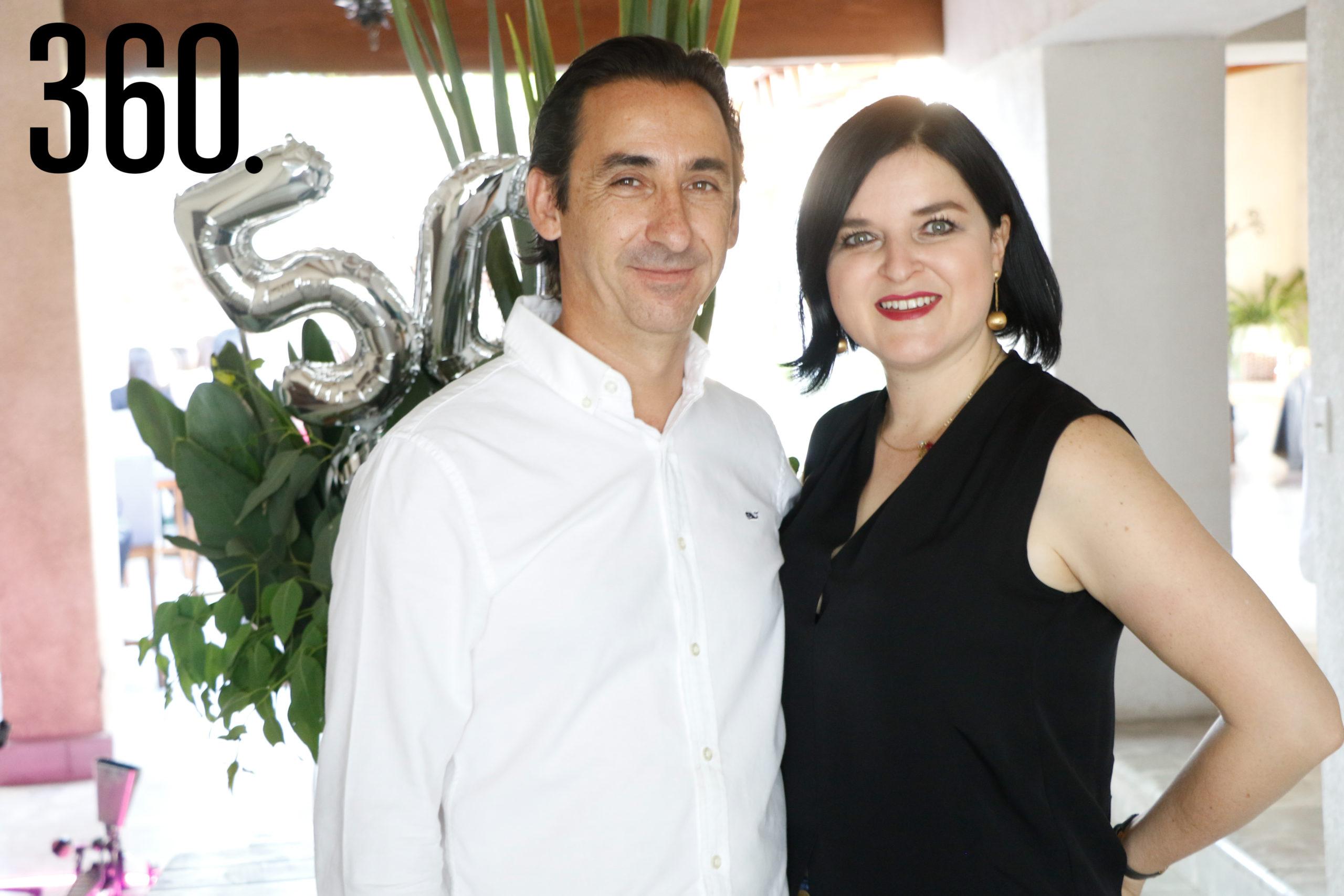 Luis de la Peña y Magda Flores.