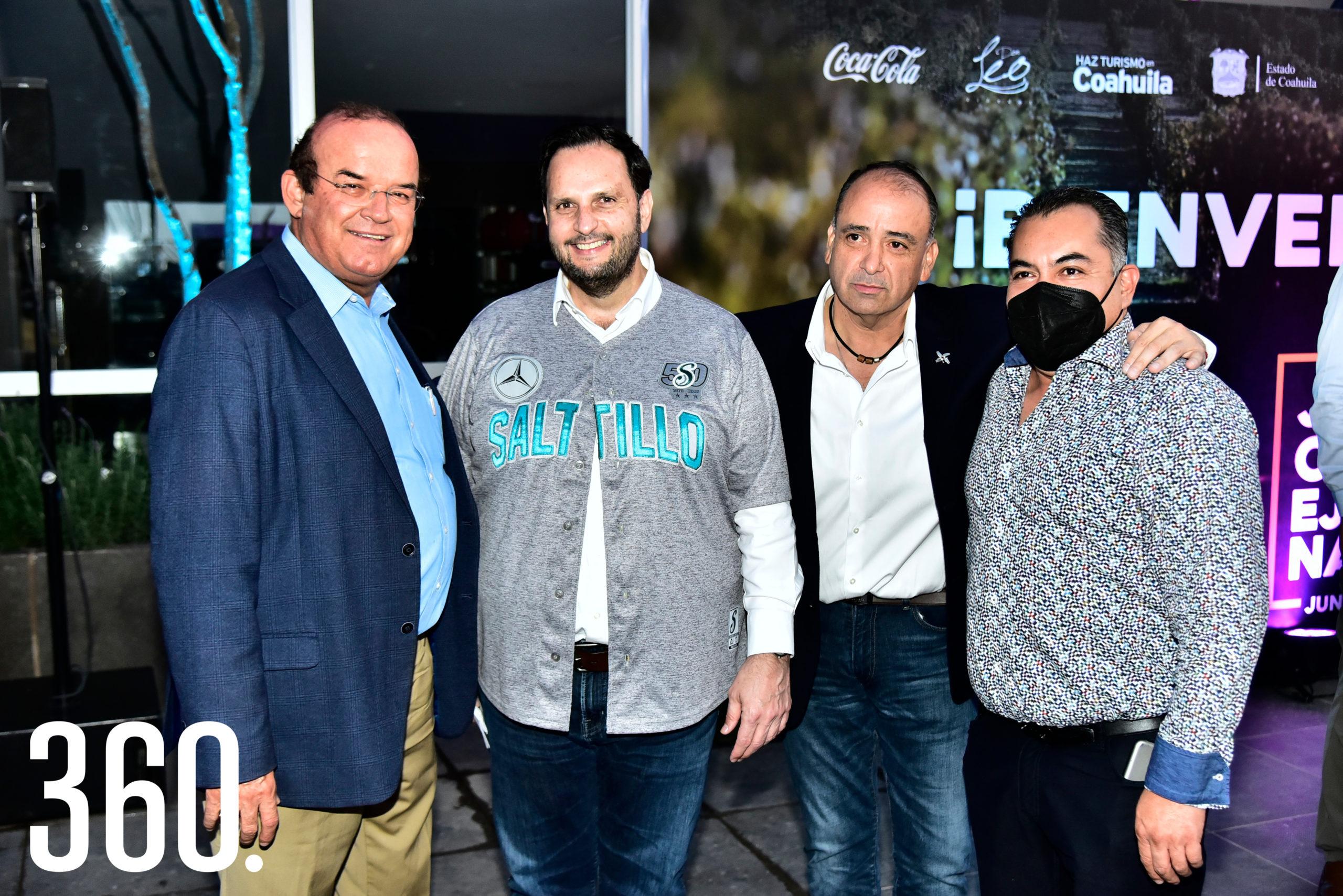 Jaime Guerra, Germán González, Miguel Camacho y Guillermo Martínez.