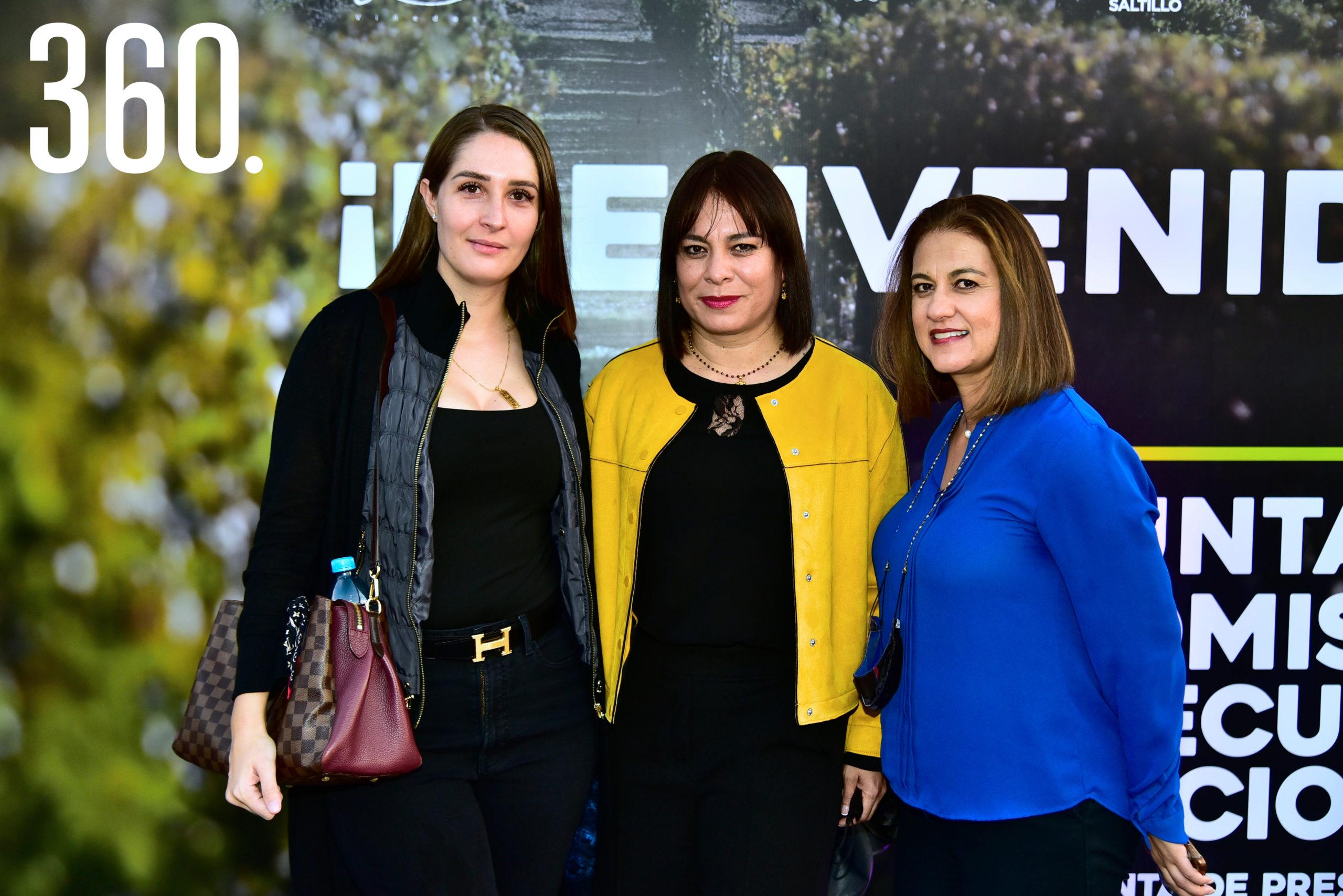 Ana Emilia Pérez, Claudia Rueda y Martha Álvarez.