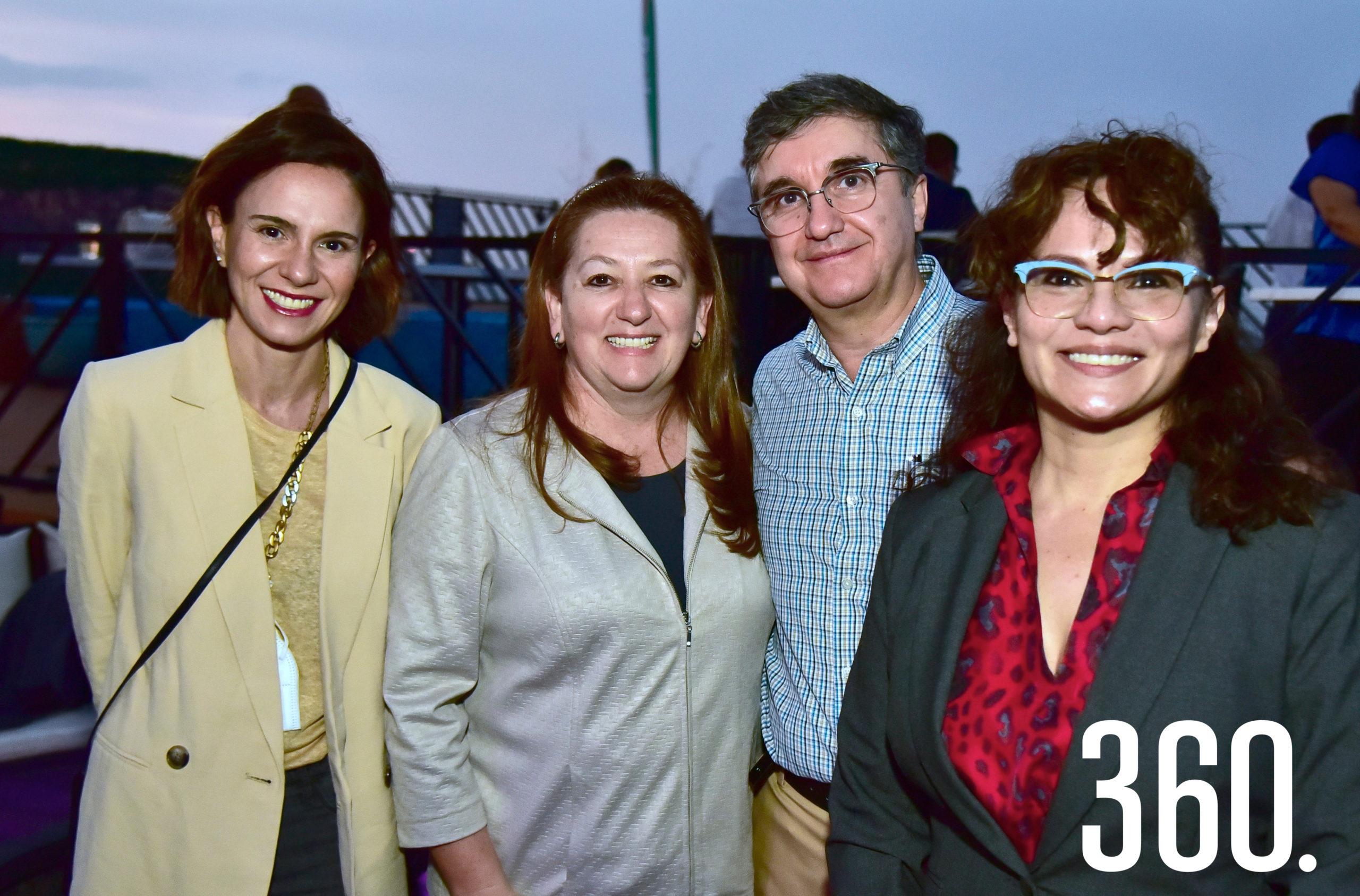 Daniela Mijares, María Abedrop, Braulio Cárdenas y Olivia Soriano.