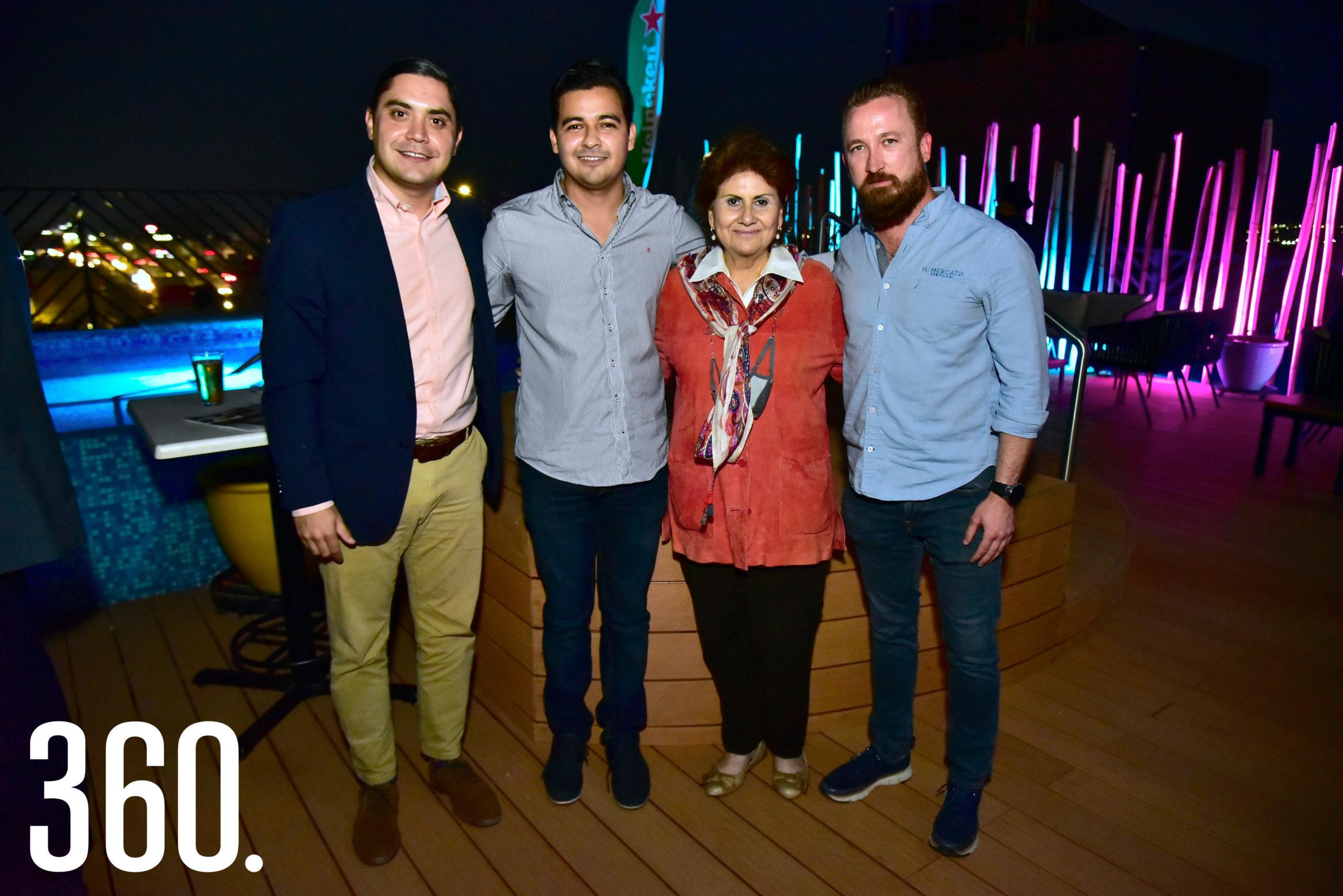 Carlos Elizondo, Eder López, María Eugenia Sánchez y Fabio Gentiloni.
