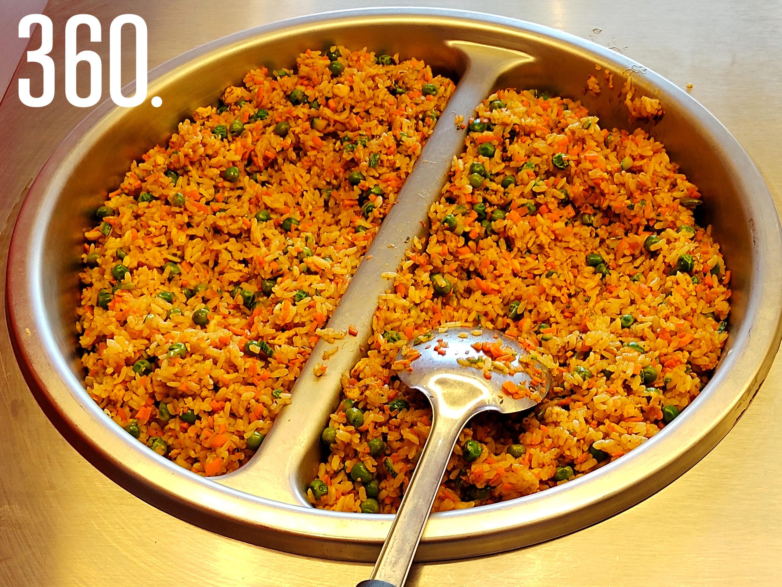 El tradicional arroz frito chino, con el toque especial de Panda Panda.