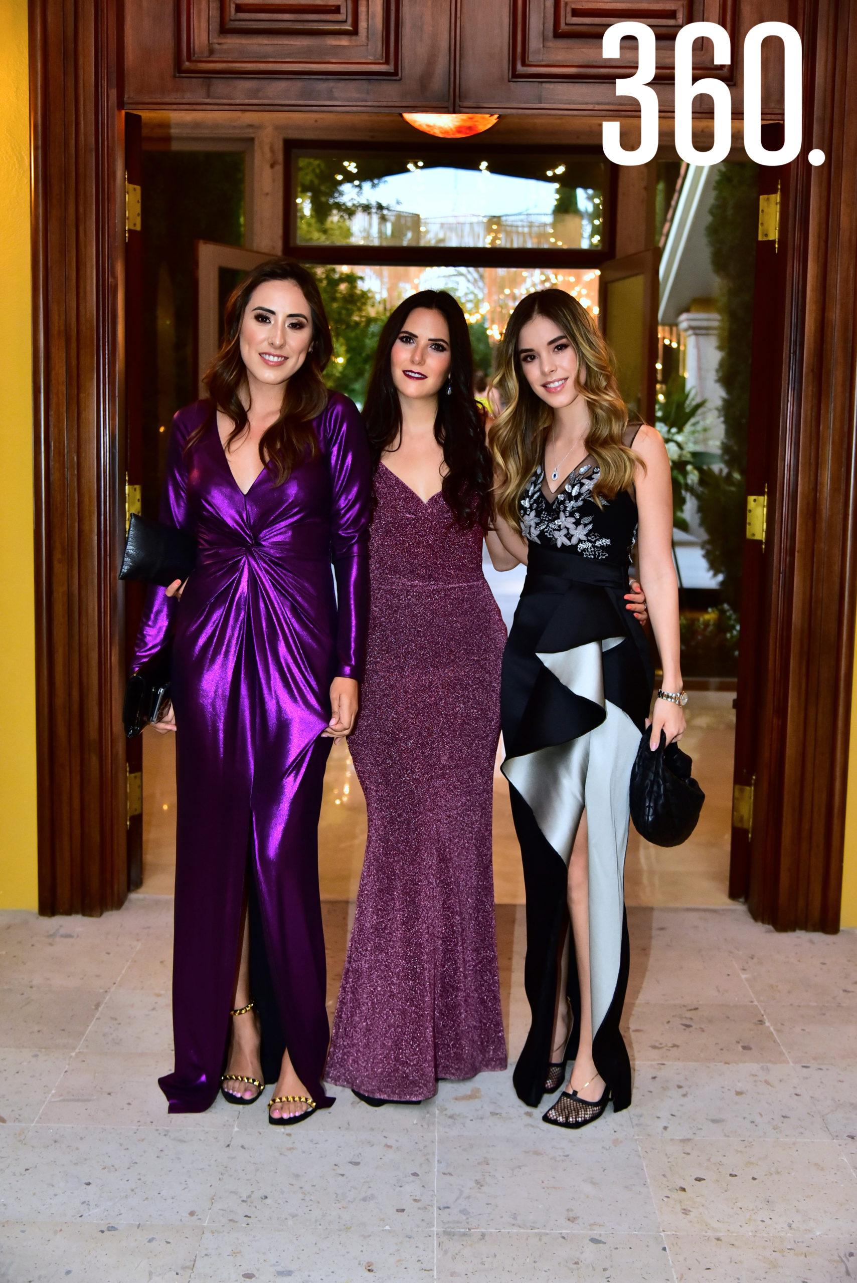 Ceci Guadiana, Lucía Rodríguez y Karen Elizalde.