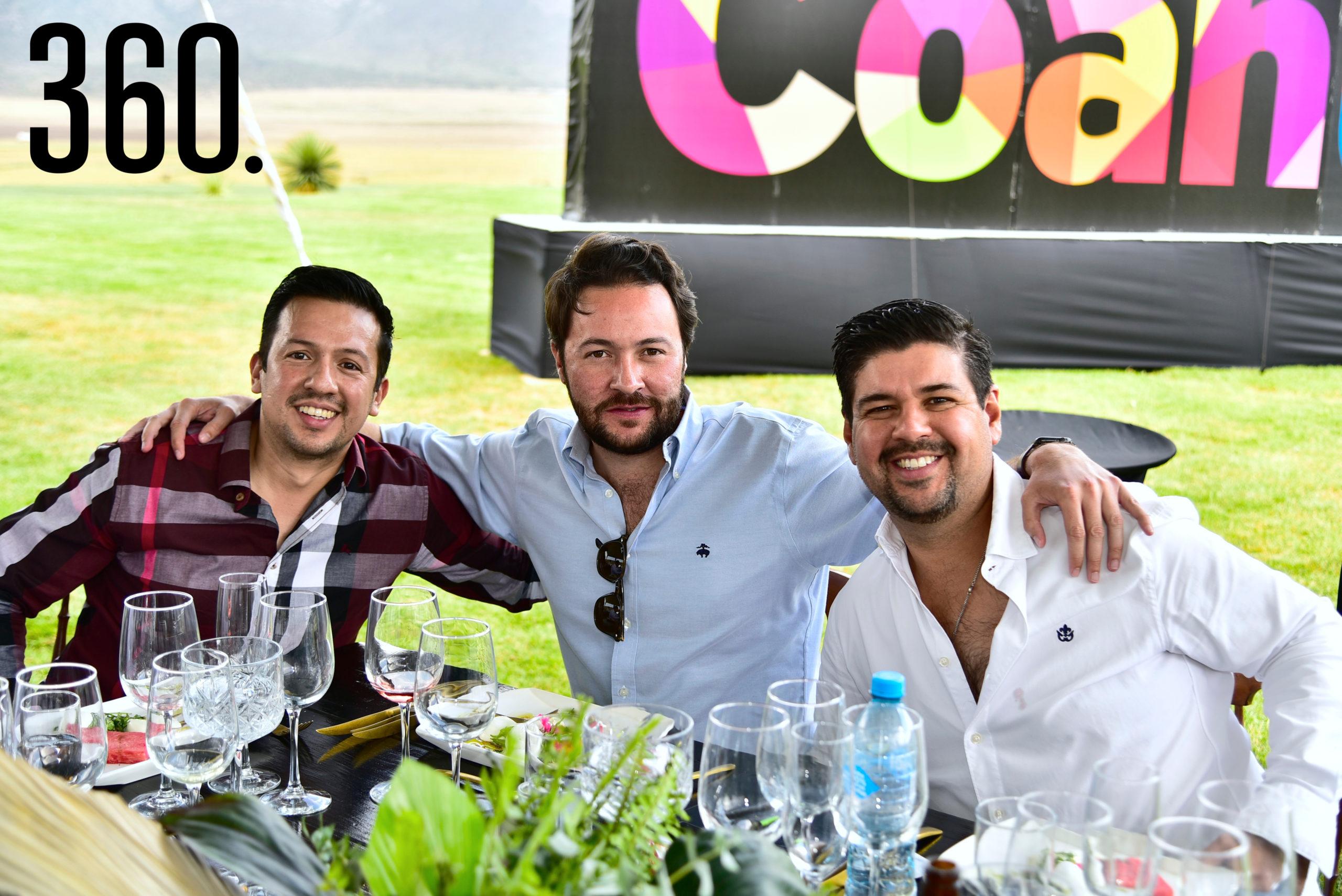 Luis Téllez, Lalo Nieto y Fer Orozco.