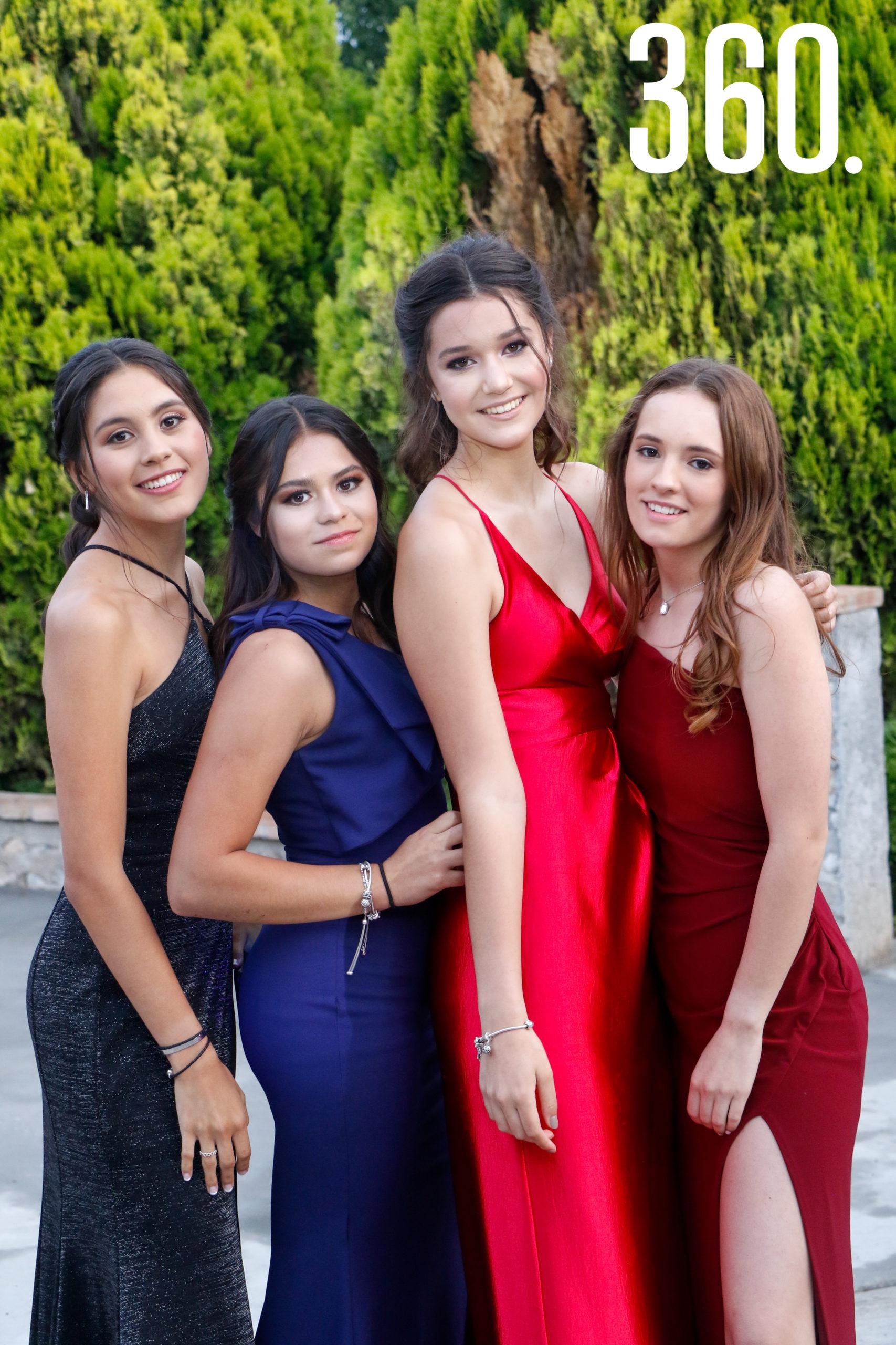 Jimena Villarreal, Andrea Alvarado, Gaby Farías y Regina Cantú.