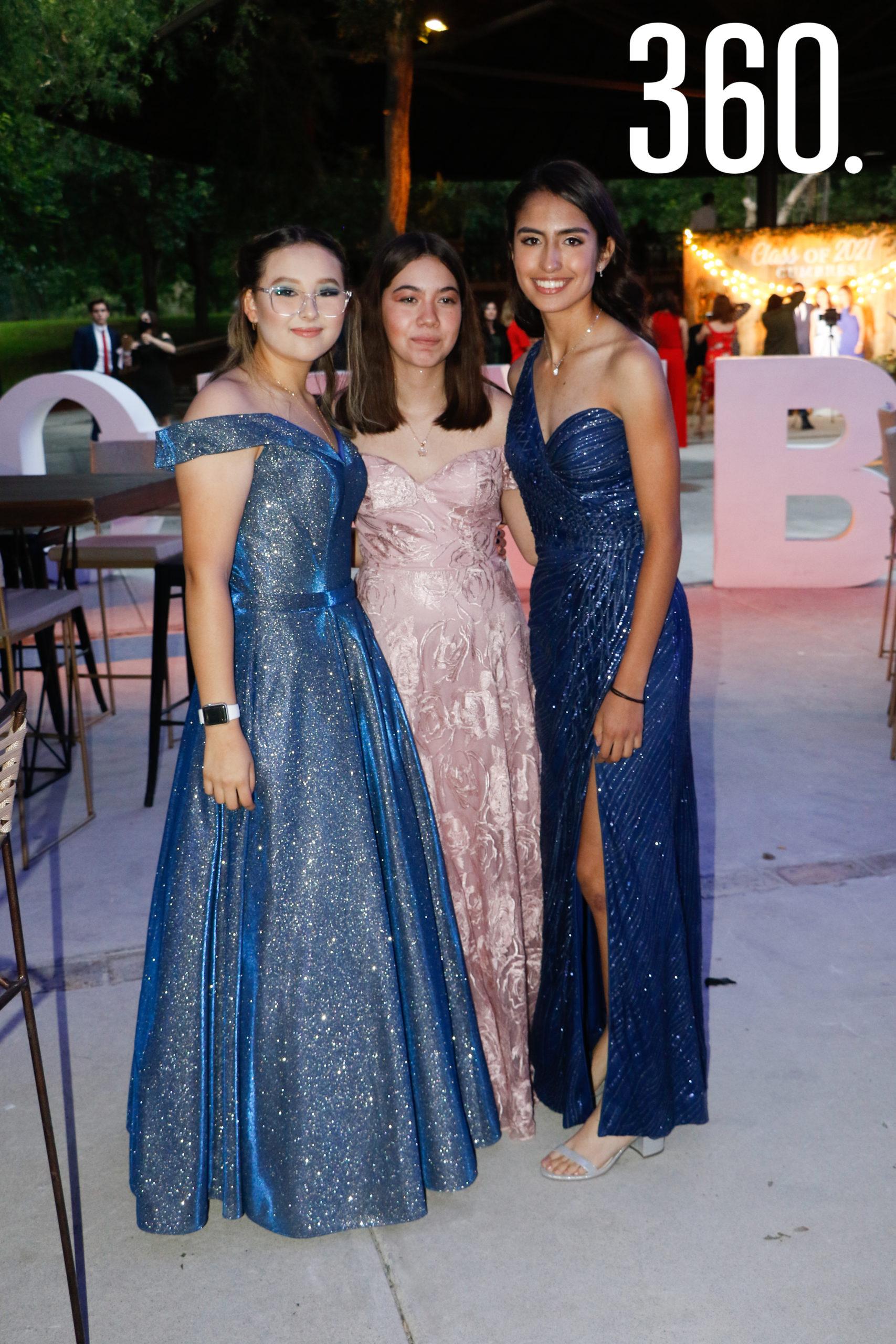 Nicole Joseph, Daniela Alvarado y Jimena Ordaz.